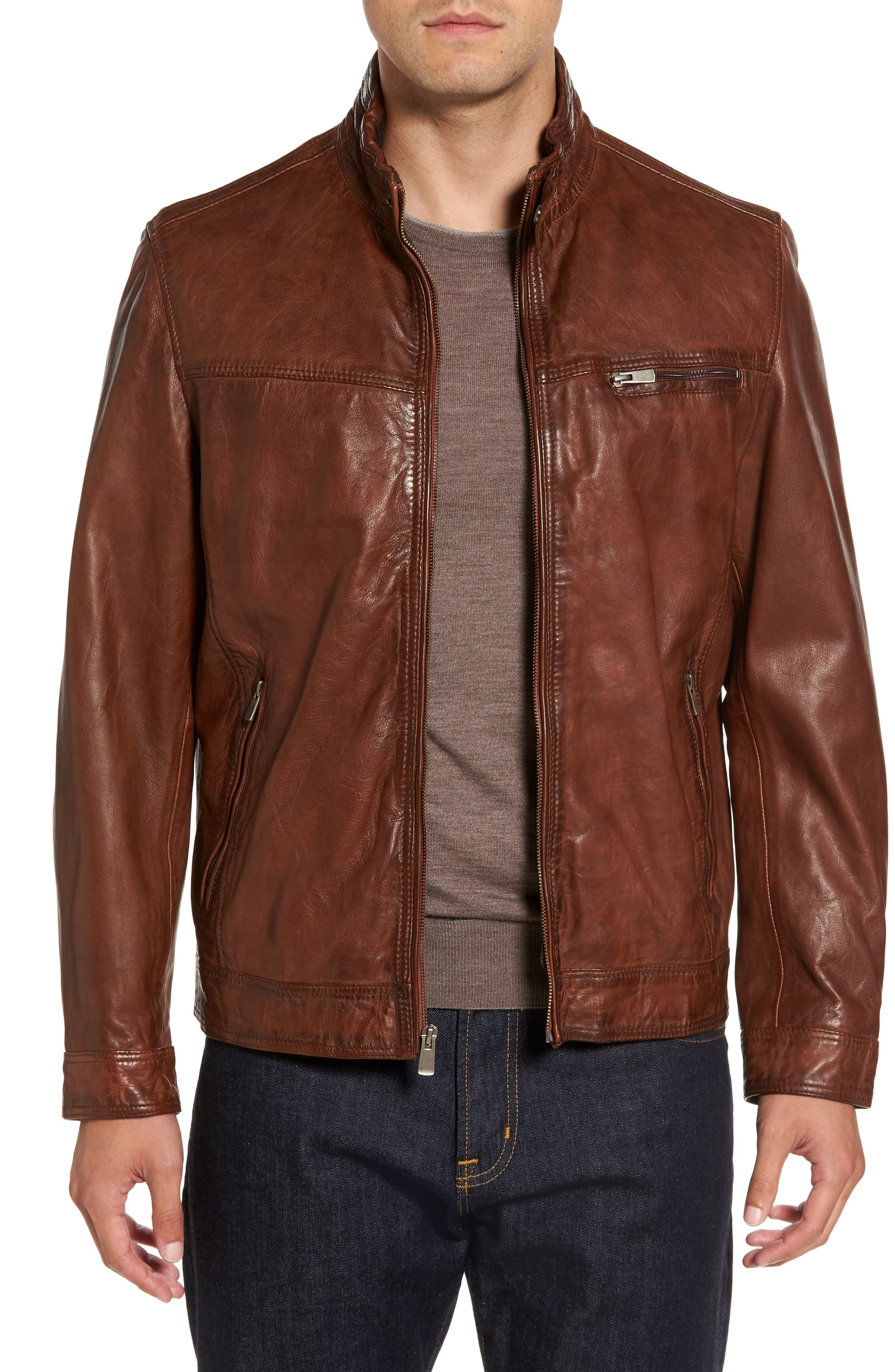 Leather Jacket,                         Main,                         color, 210