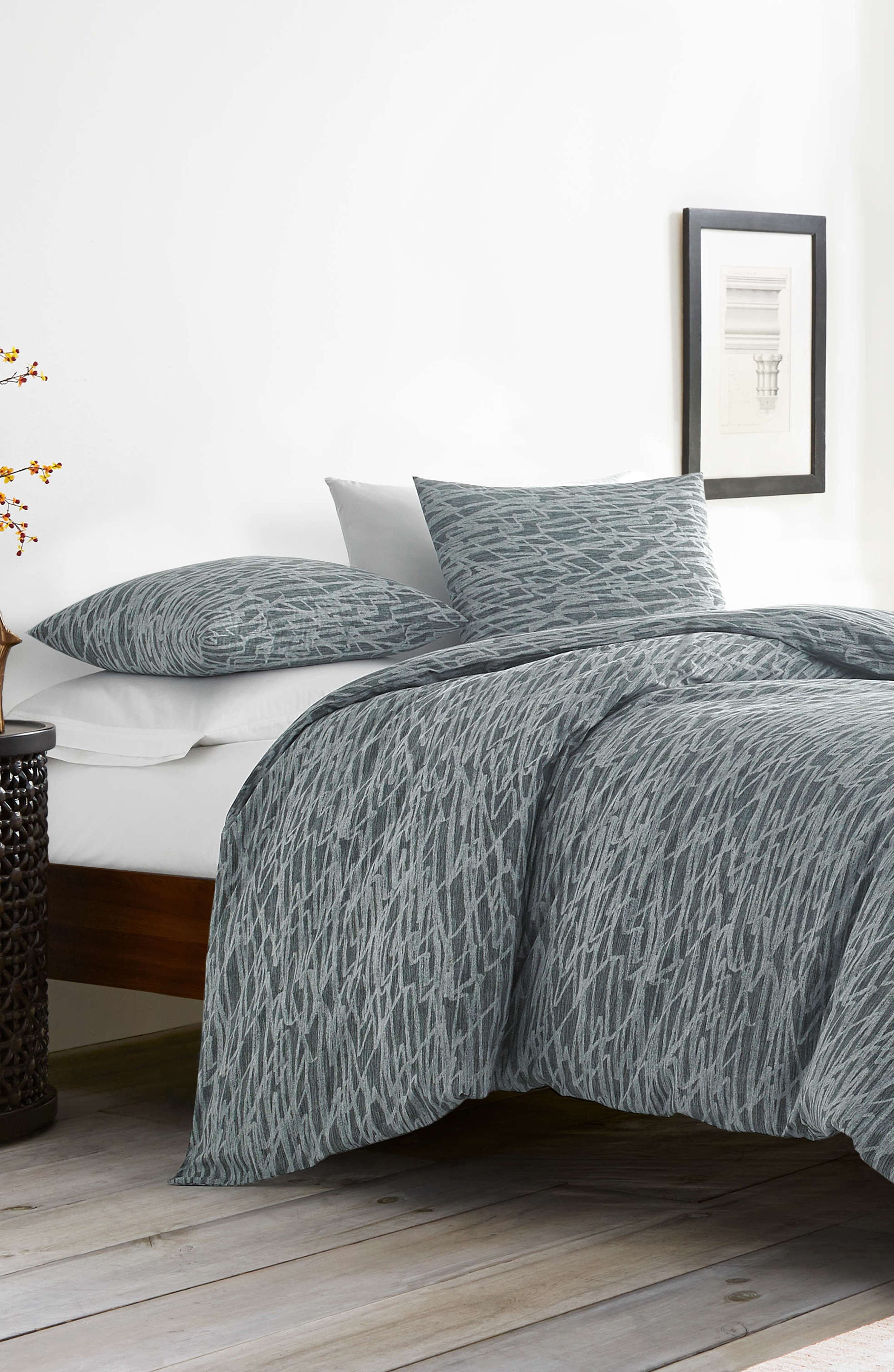 ED ELLEN DEGENERES Boceto Comforter Set, Main, color, MEDIUM GREY