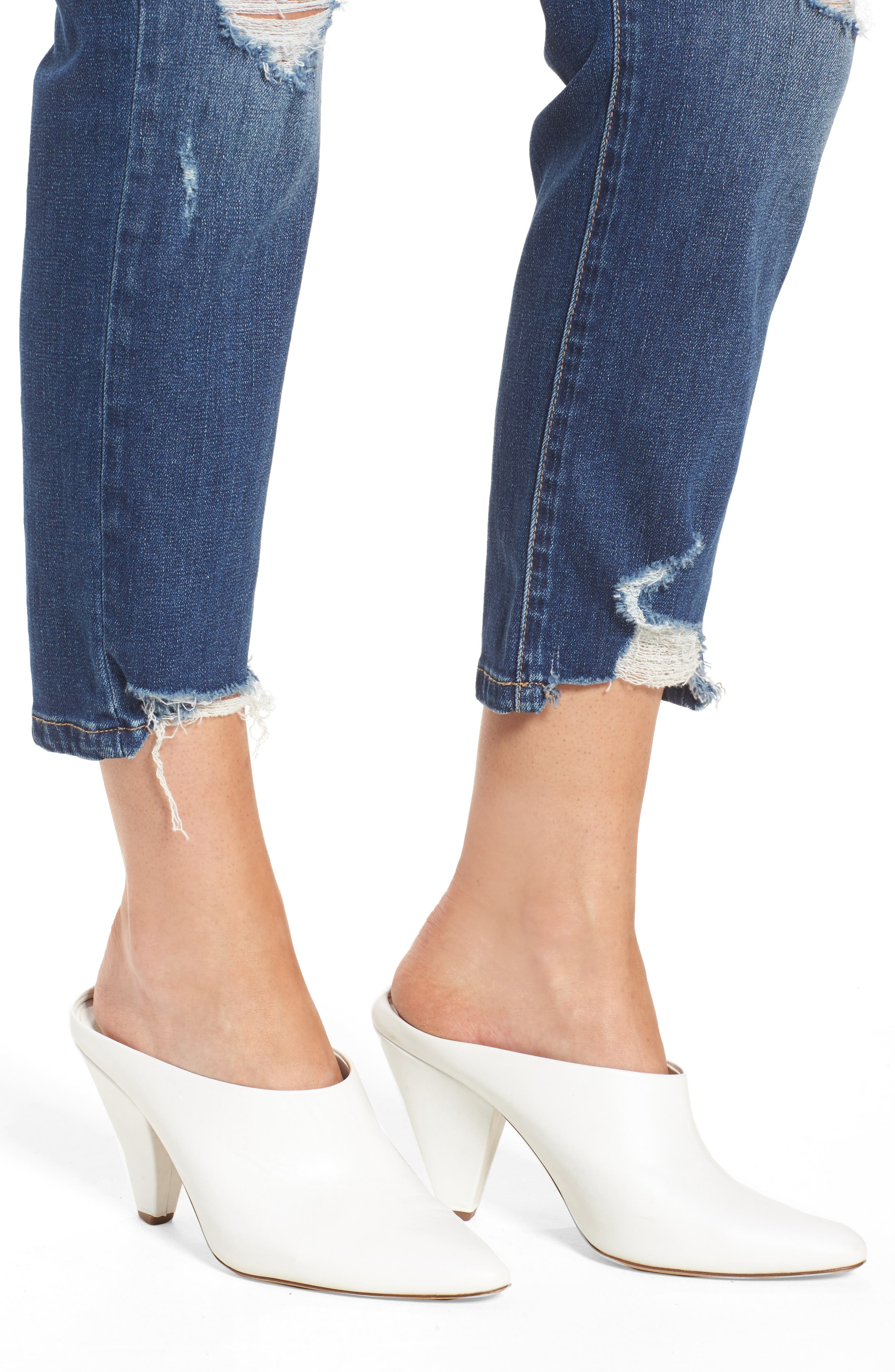 Your Favorite Distressed Straight Jeans,                             Alternate thumbnail 4, color,