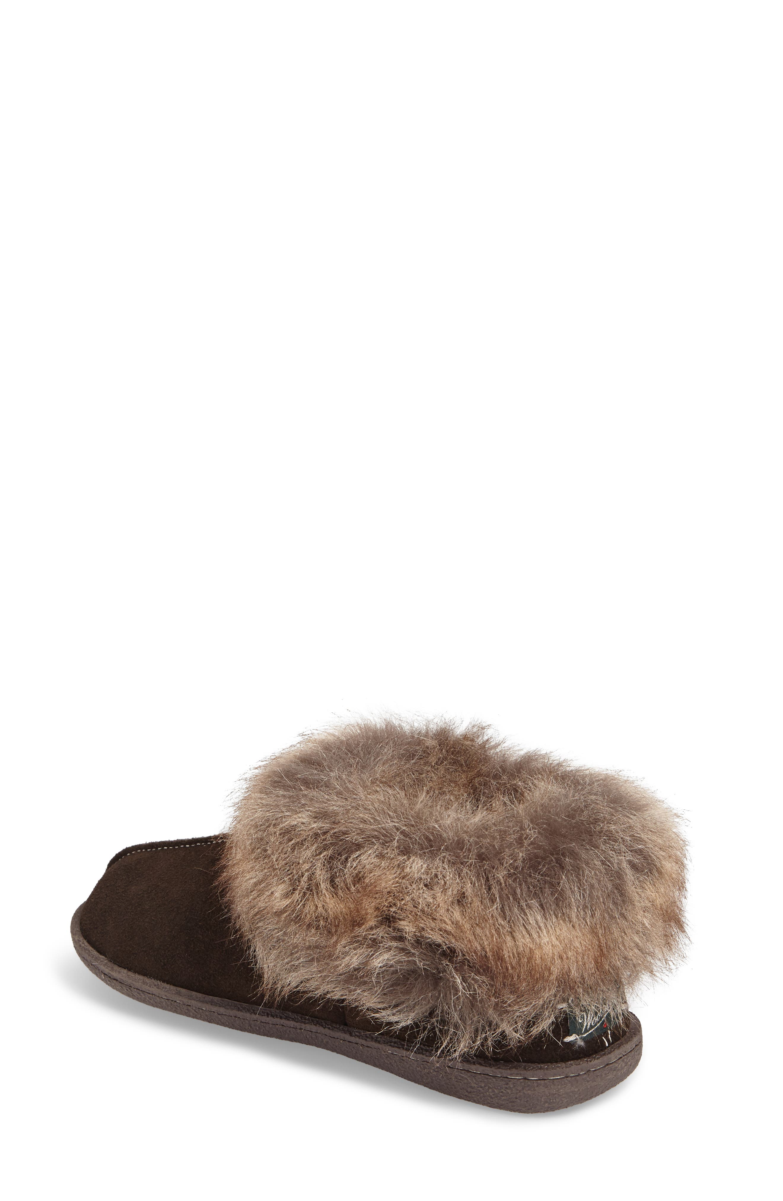 Autumn Ridge II Faux Fur Slipper Bootie,                             Alternate thumbnail 3, color,