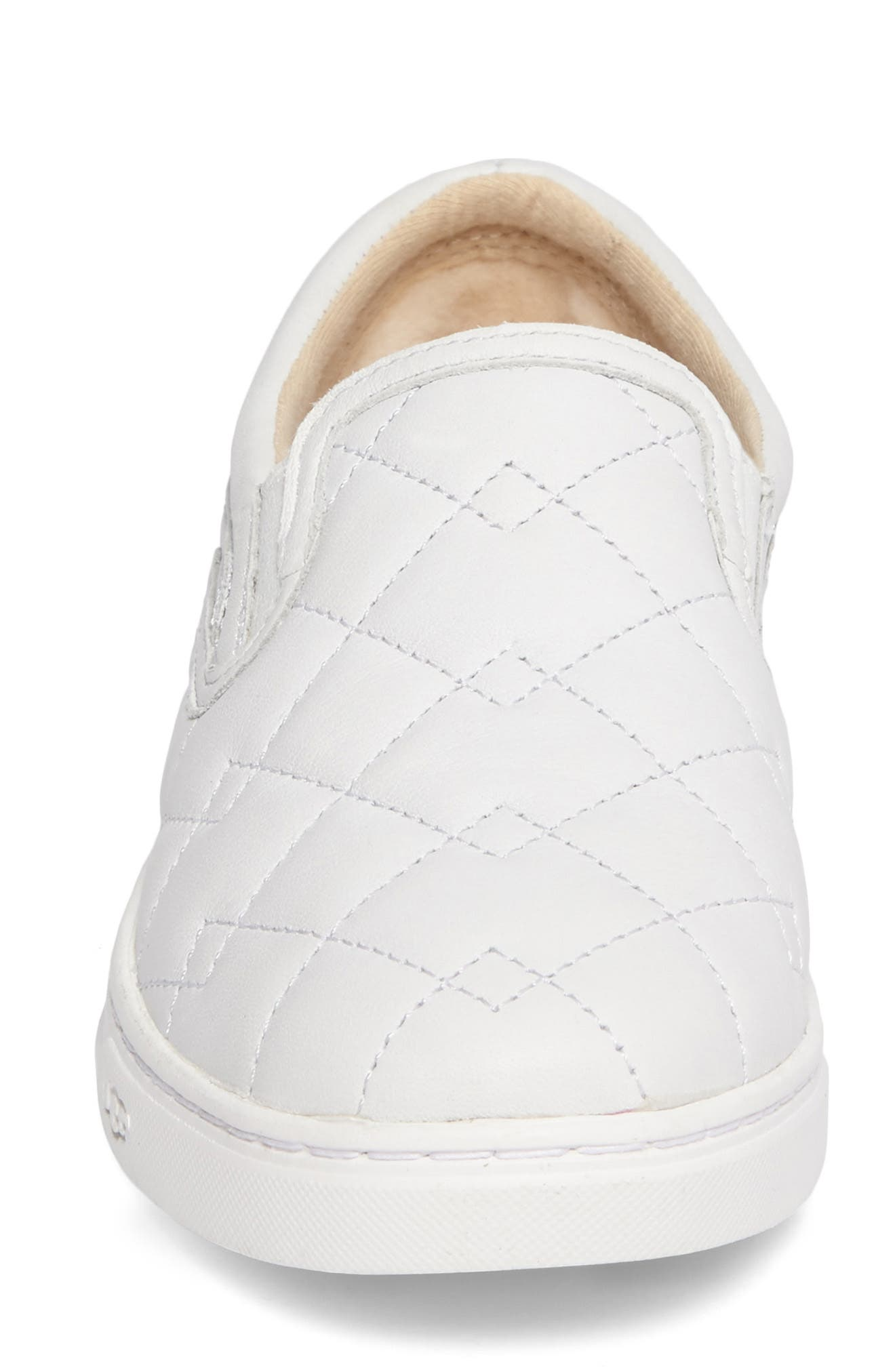 Fierce Deco Quilted Slip-On Sneaker,                             Alternate thumbnail 4, color,                             100