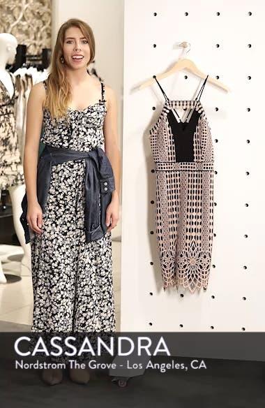 Contrast Chiffon Lace Halter Body-Con Dress, sales video thumbnail