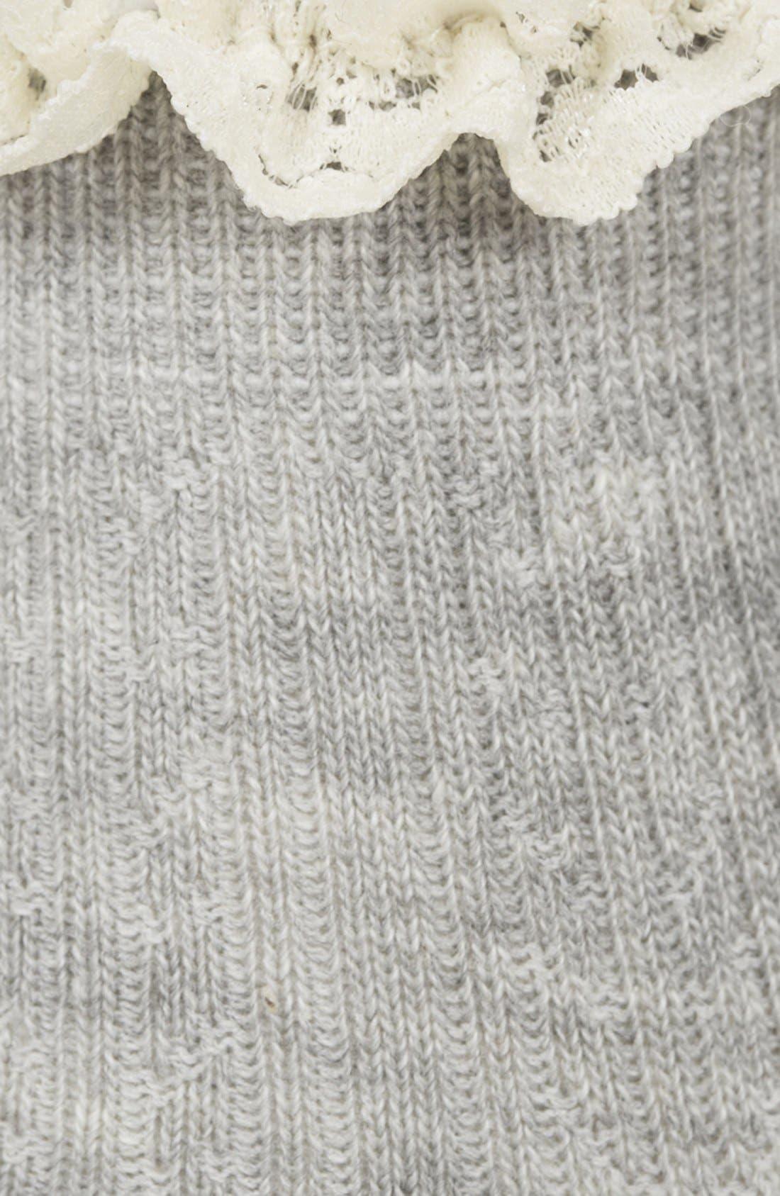 Lace Trim Ankle Socks,                             Alternate thumbnail 32, color,
