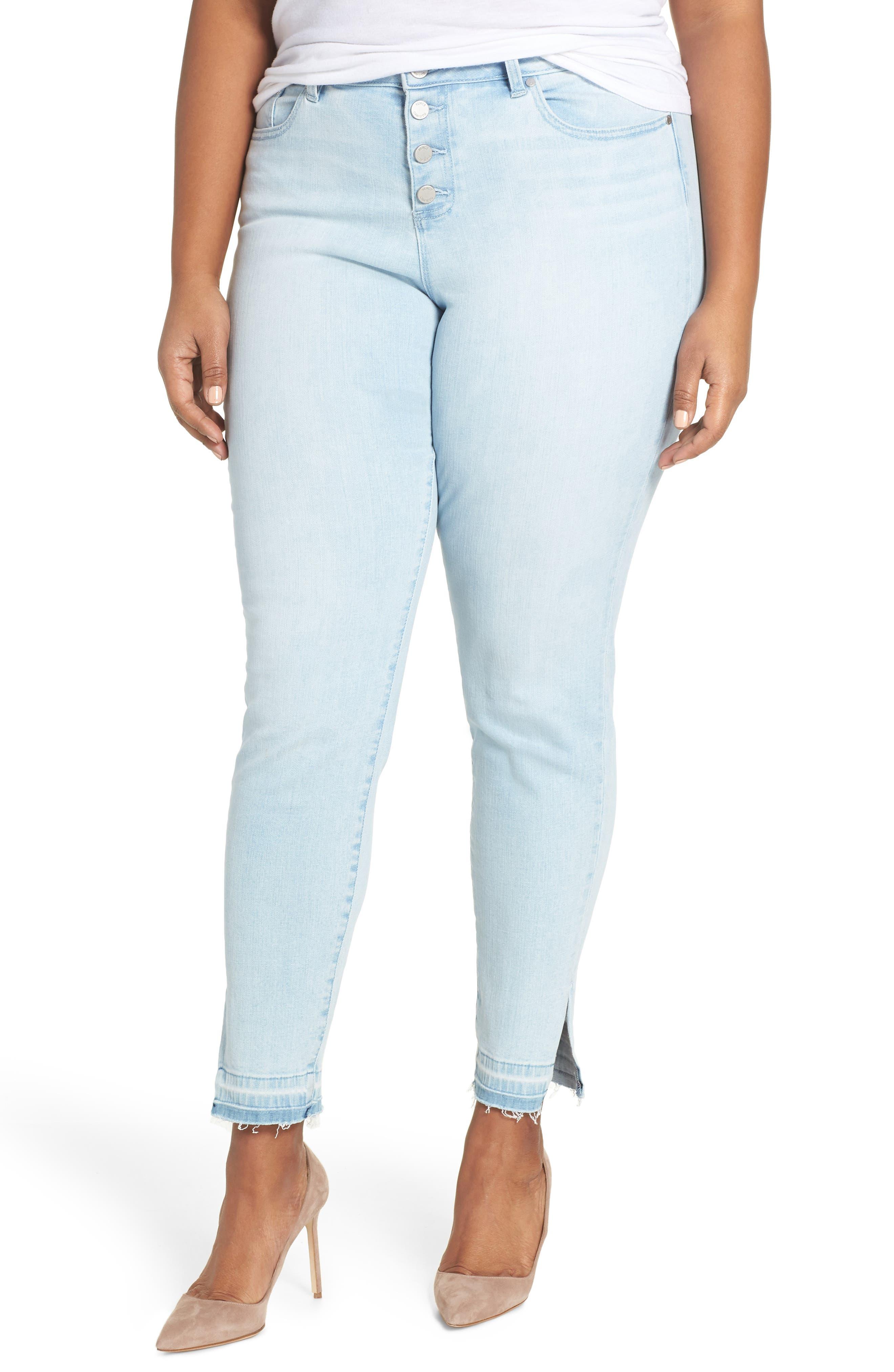 Button Fly High Waist Jeans,                             Main thumbnail 1, color,                             400