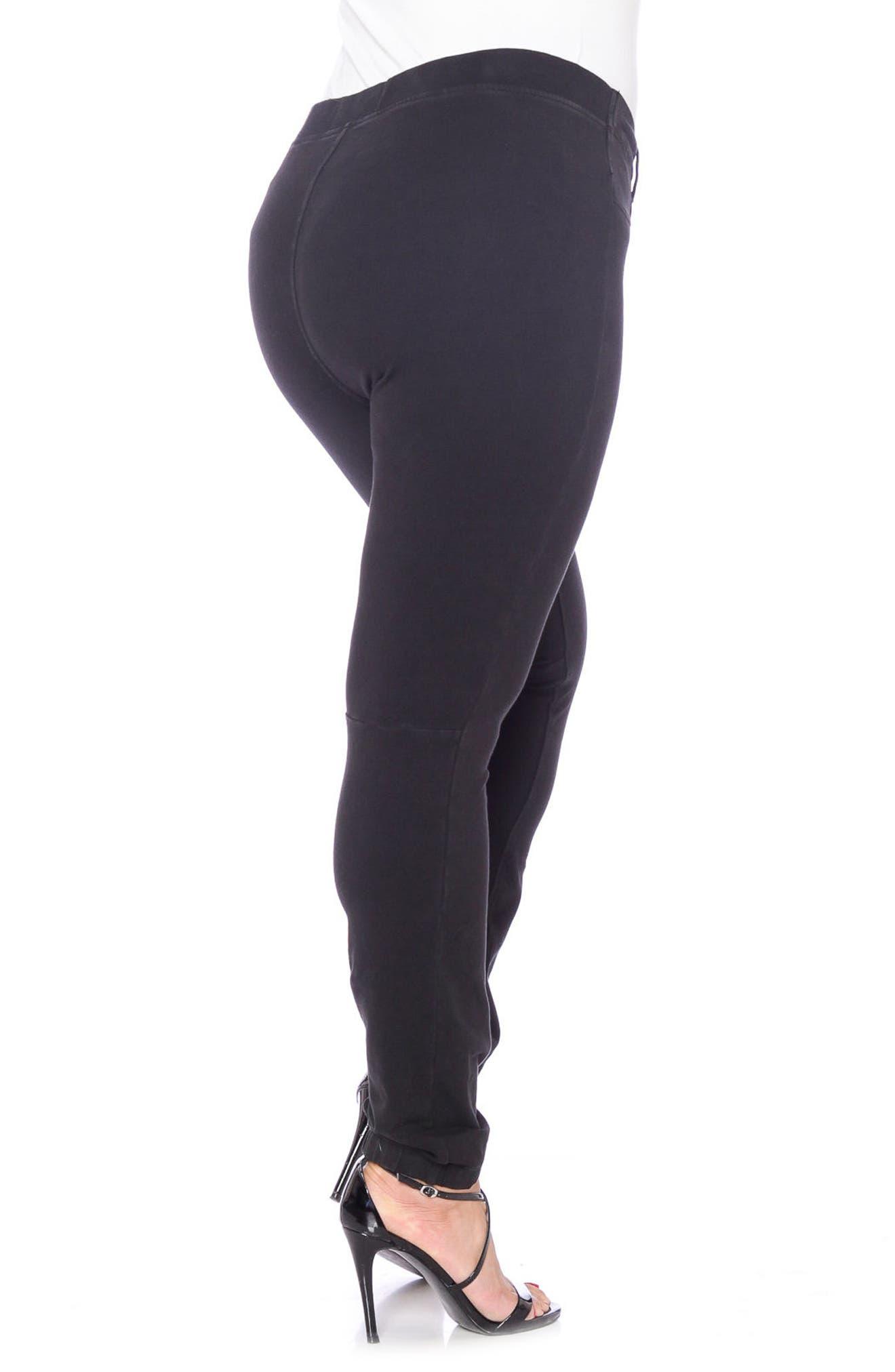 Super Stretch Knit Pants,                             Alternate thumbnail 3, color,                             001