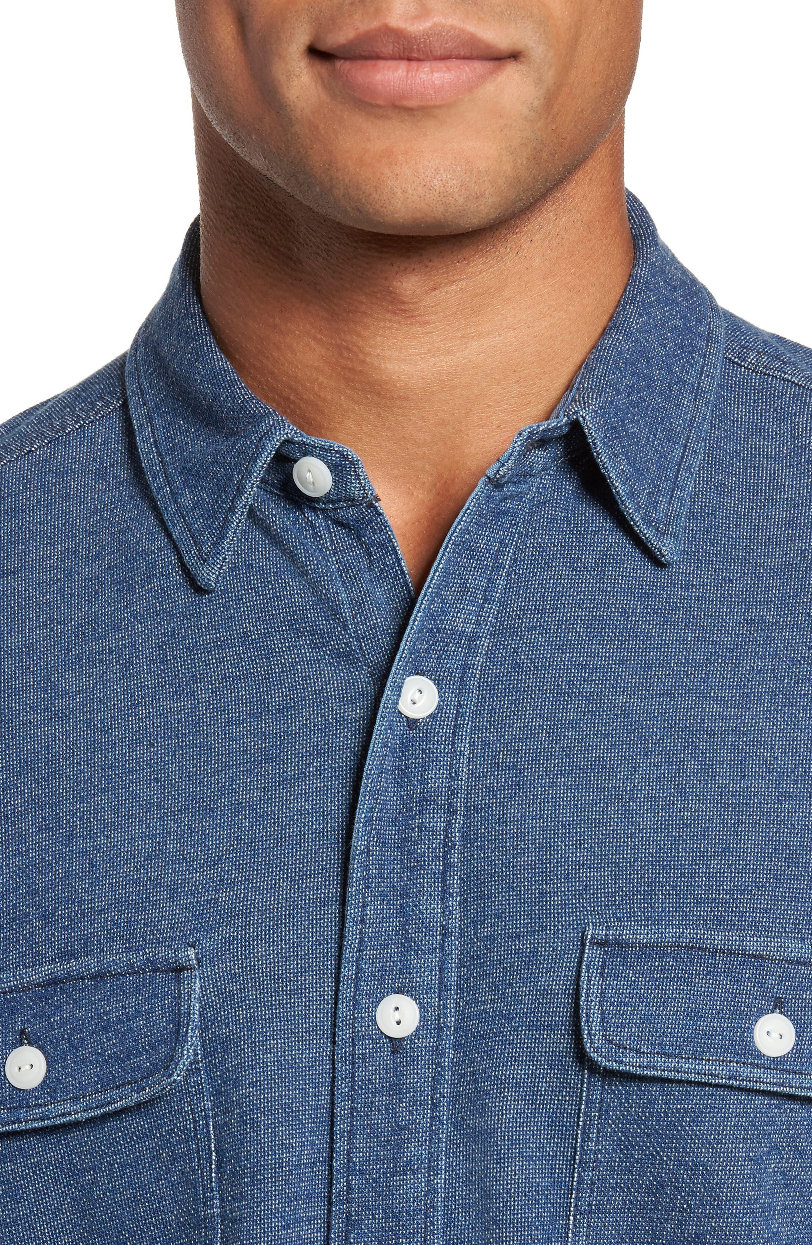 Belmar Knit Sport Shirt,                             Alternate thumbnail 4, color,                             404