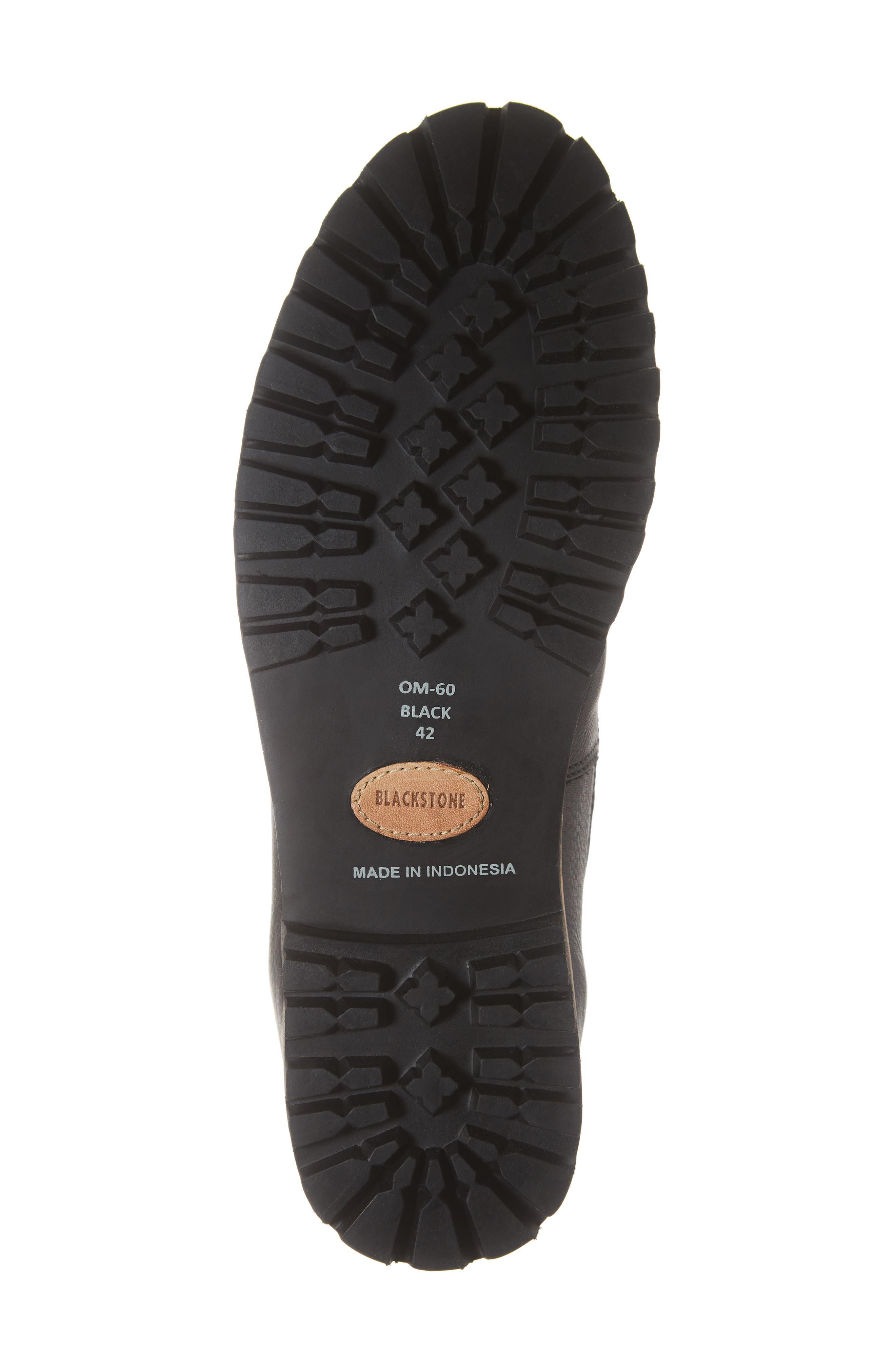 OM60 Waterproof Genuine Shearling Boot,                             Alternate thumbnail 6, color,                             BLACK