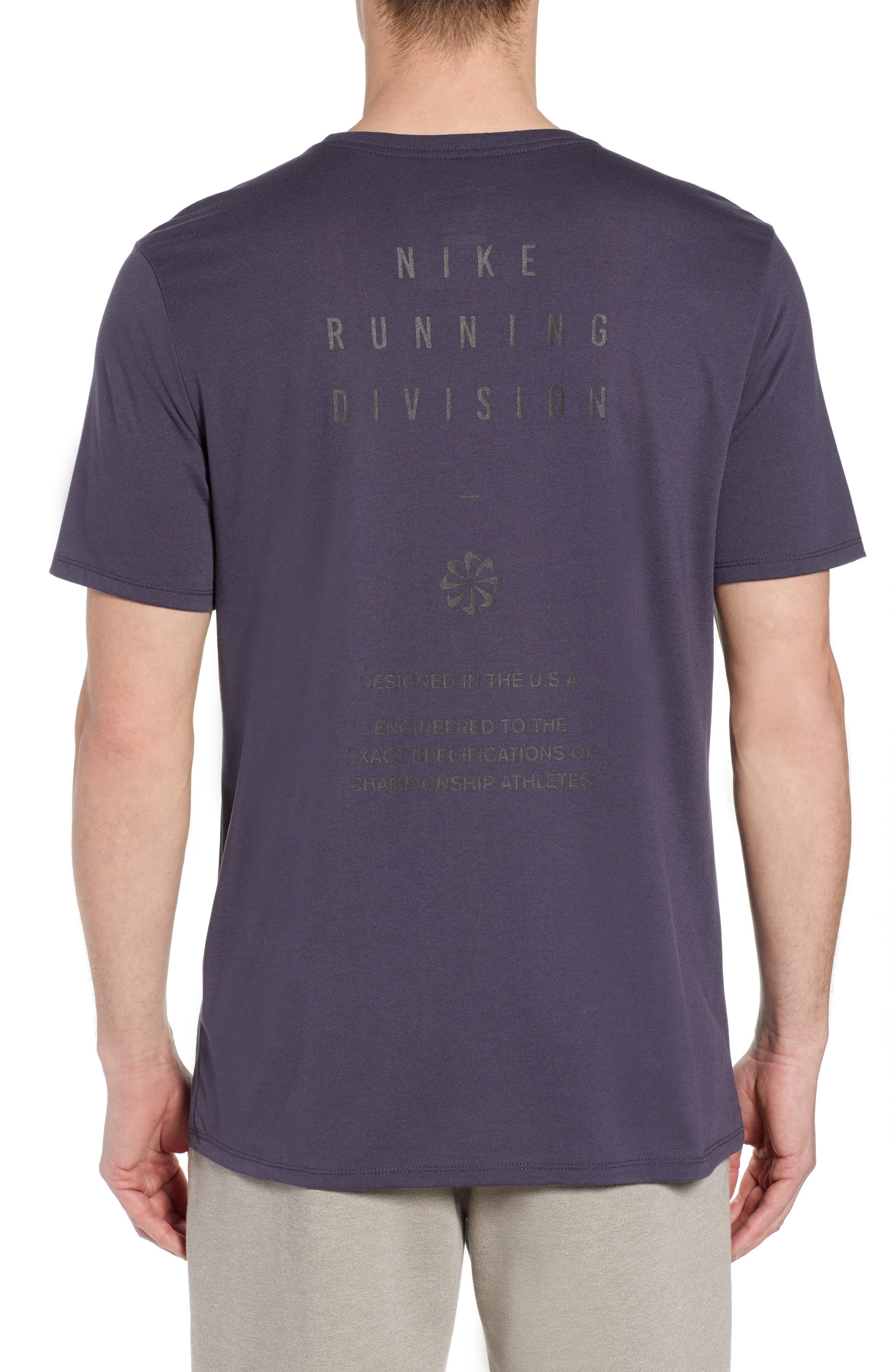 Dry Running Division T-Shirt,                             Alternate thumbnail 2, color,                             GRIDIRON/ GUNSMOKE