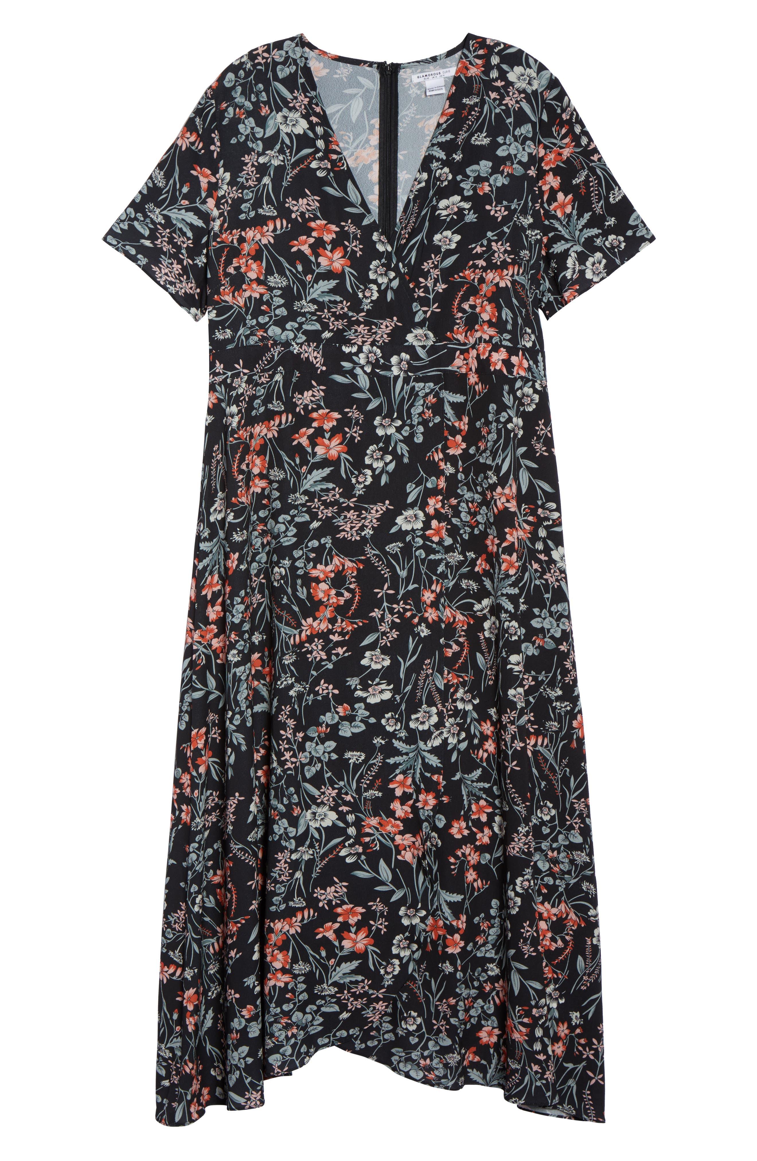 Print Maxi Dress,                             Alternate thumbnail 6, color,                             010
