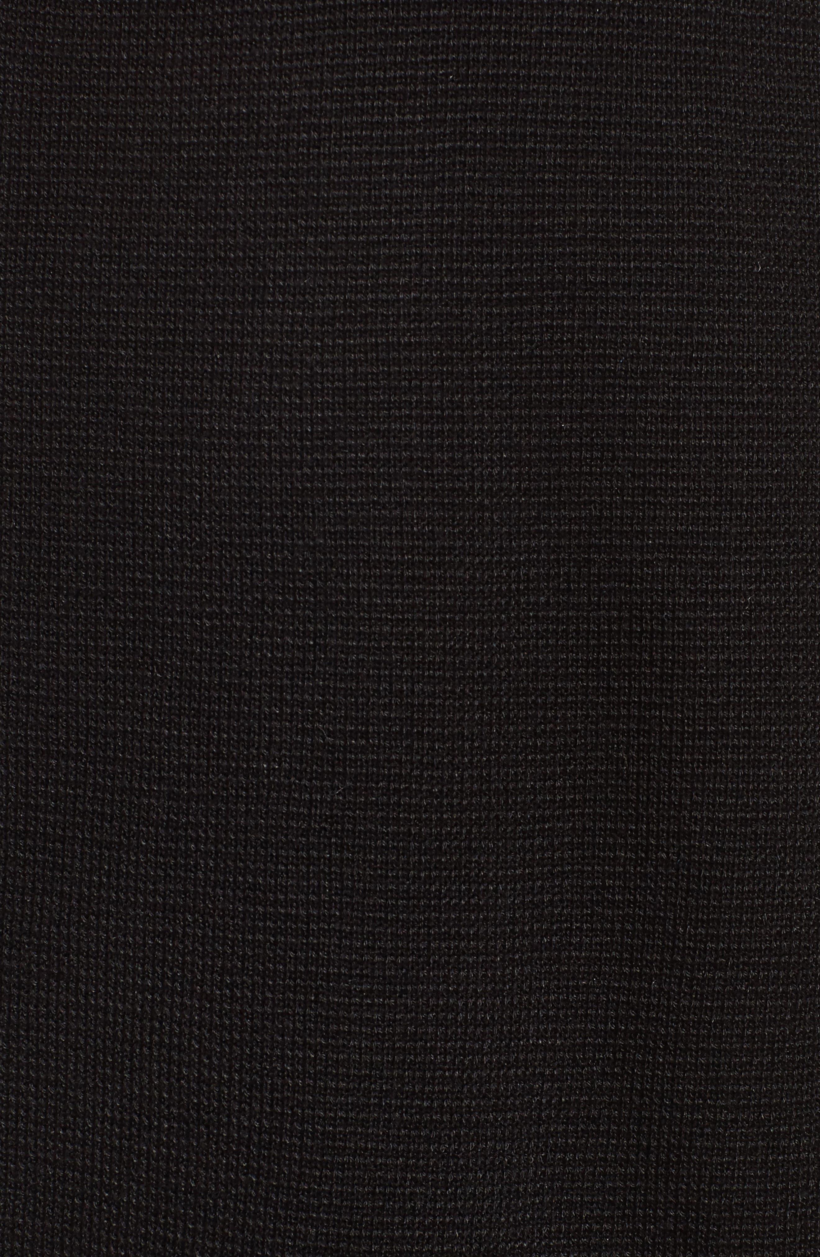 Simple Long Cardigan,                             Alternate thumbnail 5, color,                             001