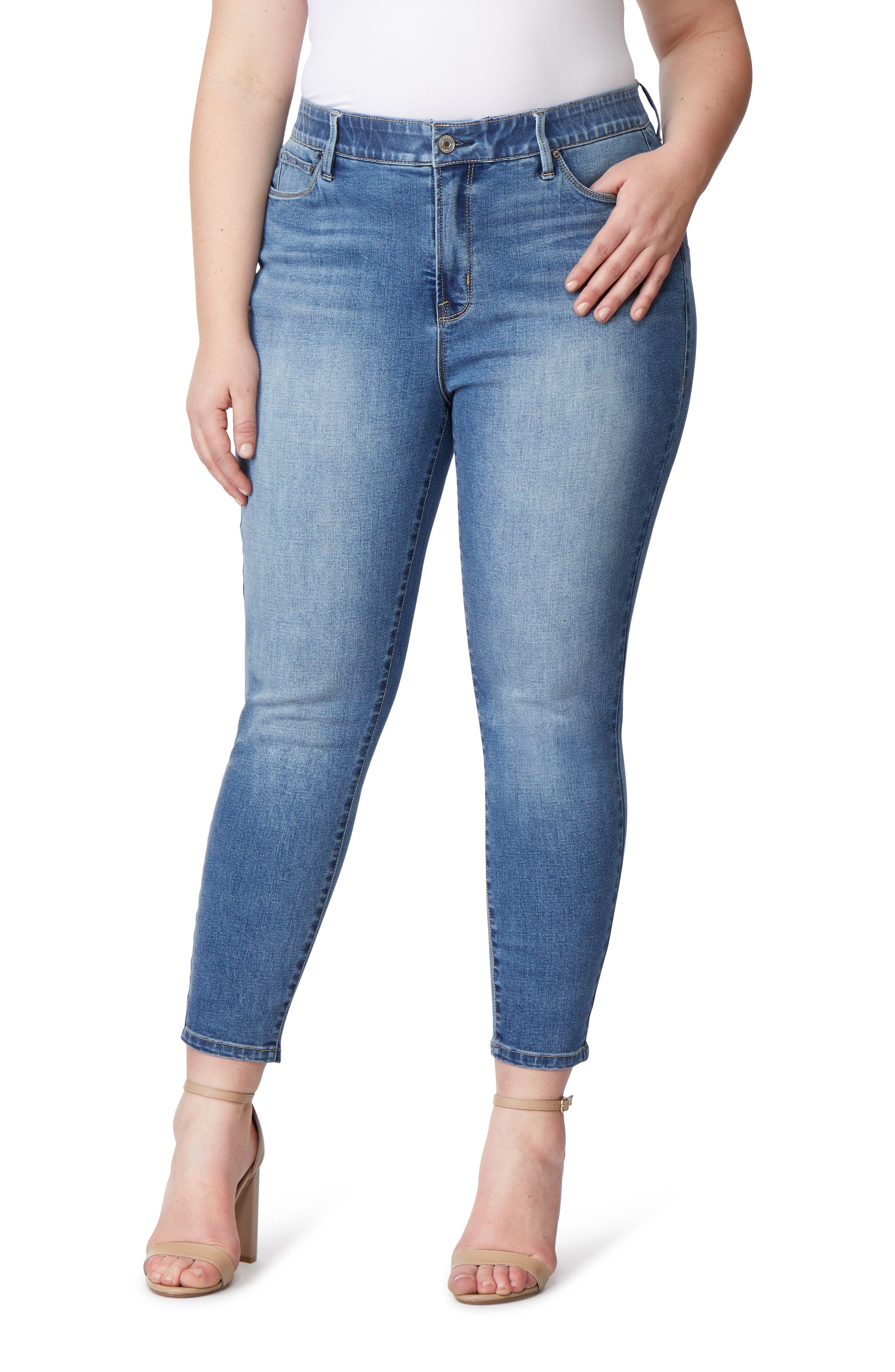 Super Bass Push-Up Skinny Jeans,                             Main thumbnail 1, color,                             INGLEWOOD