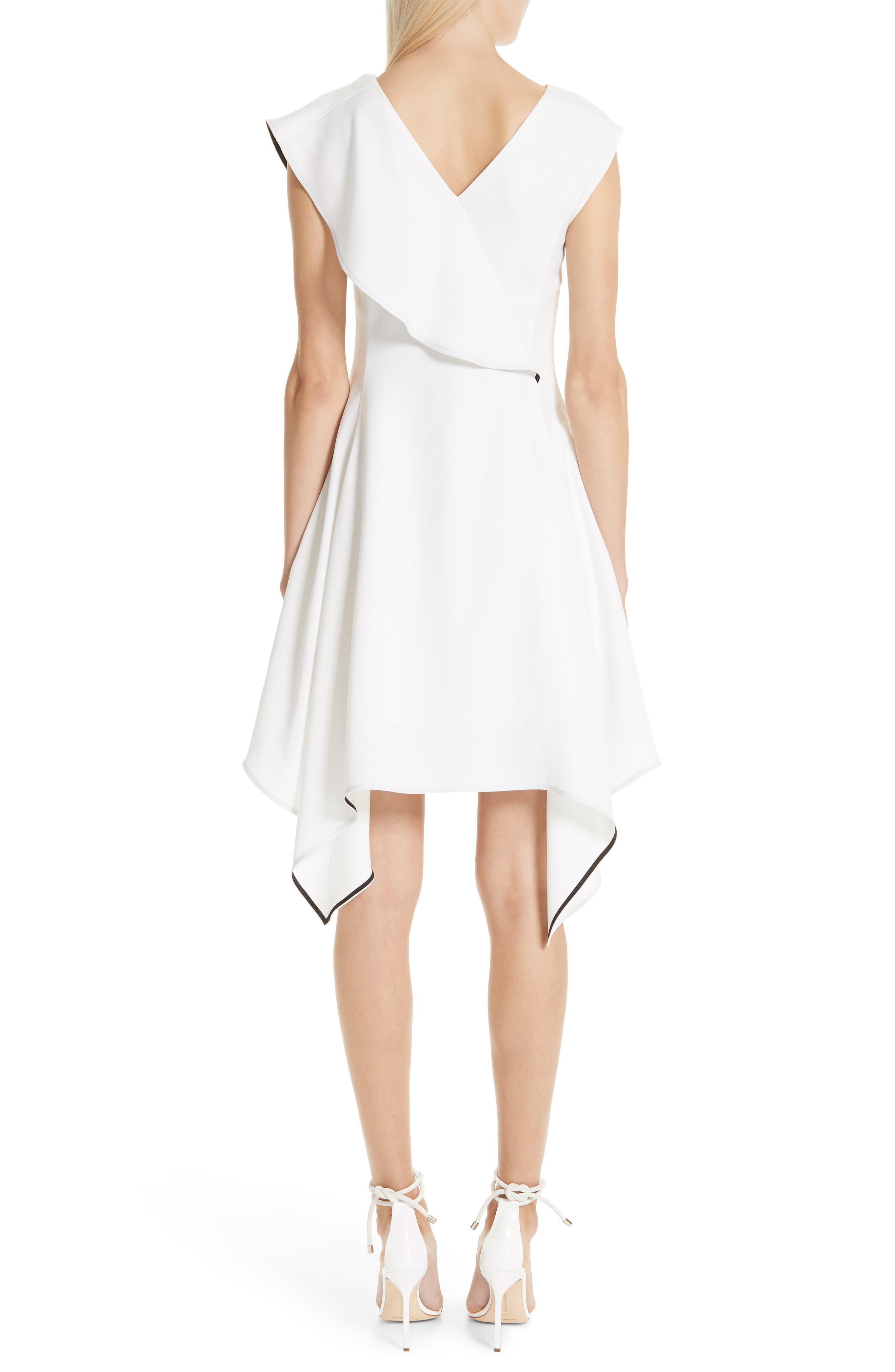 Deconstructed Ruffle Dress,                             Alternate thumbnail 2, color,                             WHITE