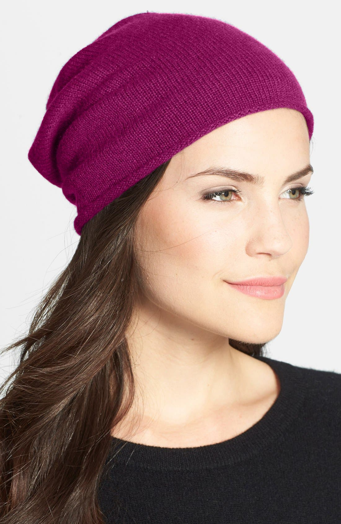 Slouchy Cashmere Beanie,                             Main thumbnail 19, color,