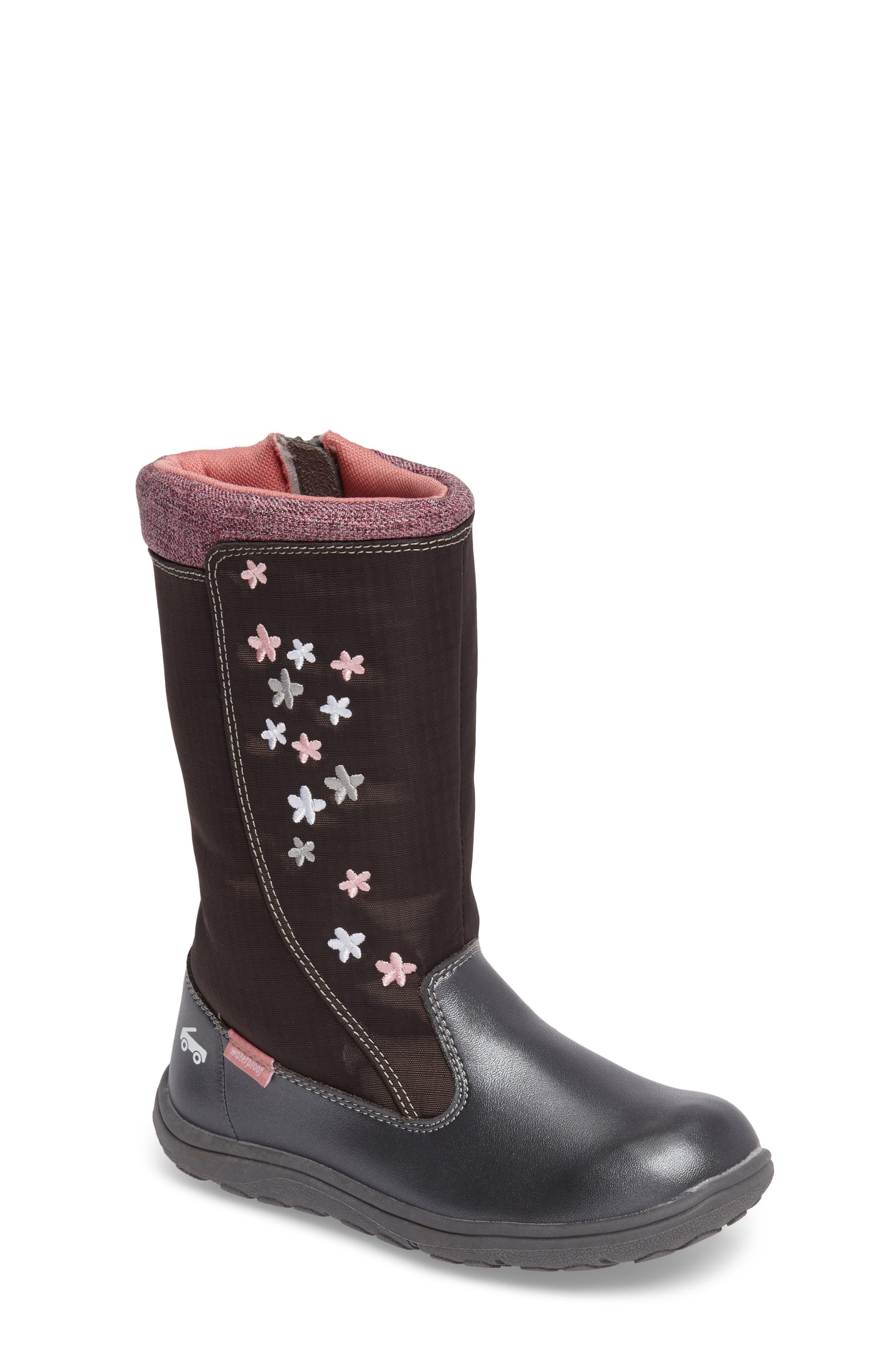 'Hallie' Waterproof Boot,                             Main thumbnail 1, color,                             021