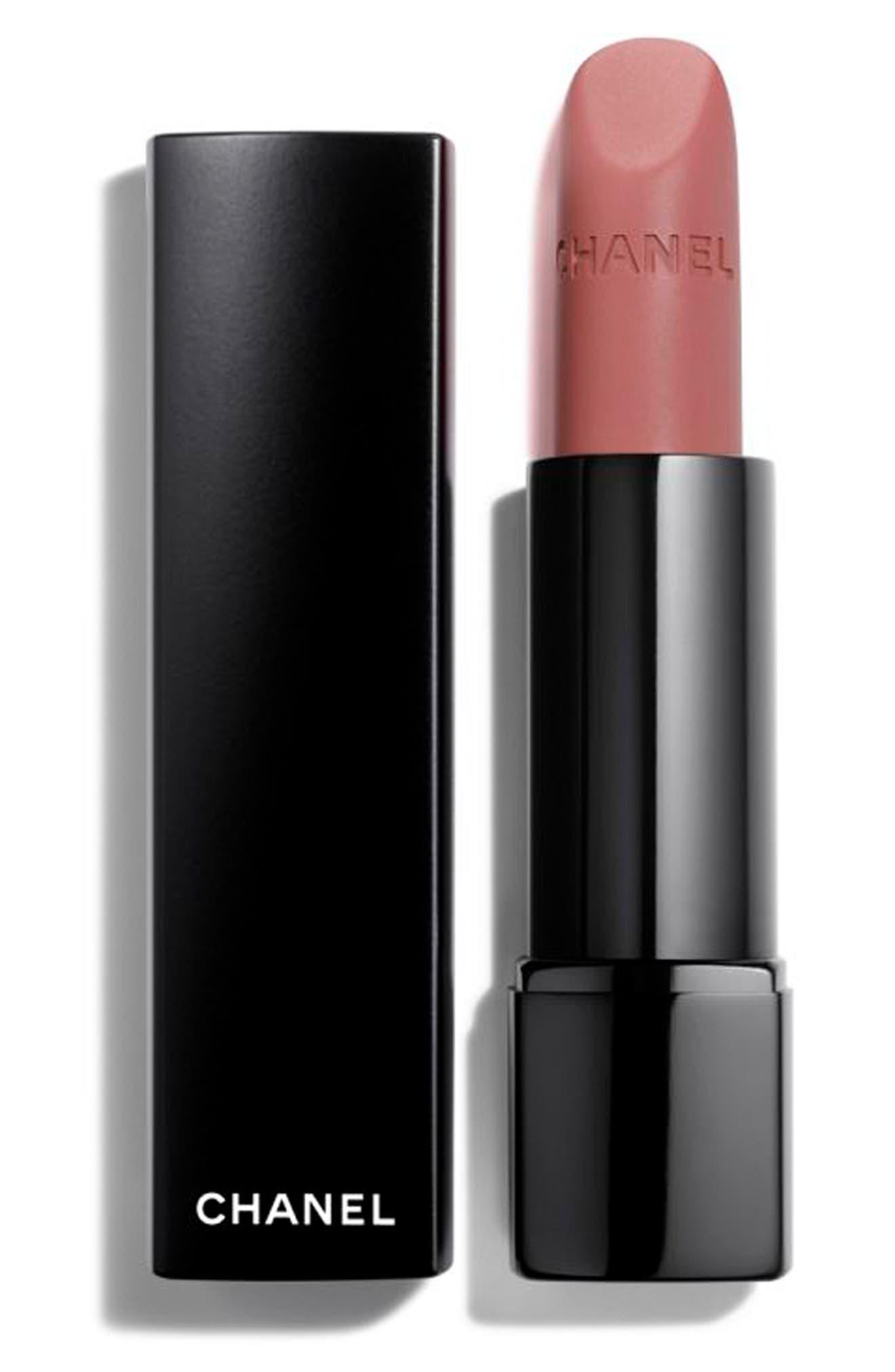 CHANEL,                             ROUGE ALLURE VELVET EXTREME<br />Intense Matte Lip Colour,                             Main thumbnail 1, color,                             102 MODERN