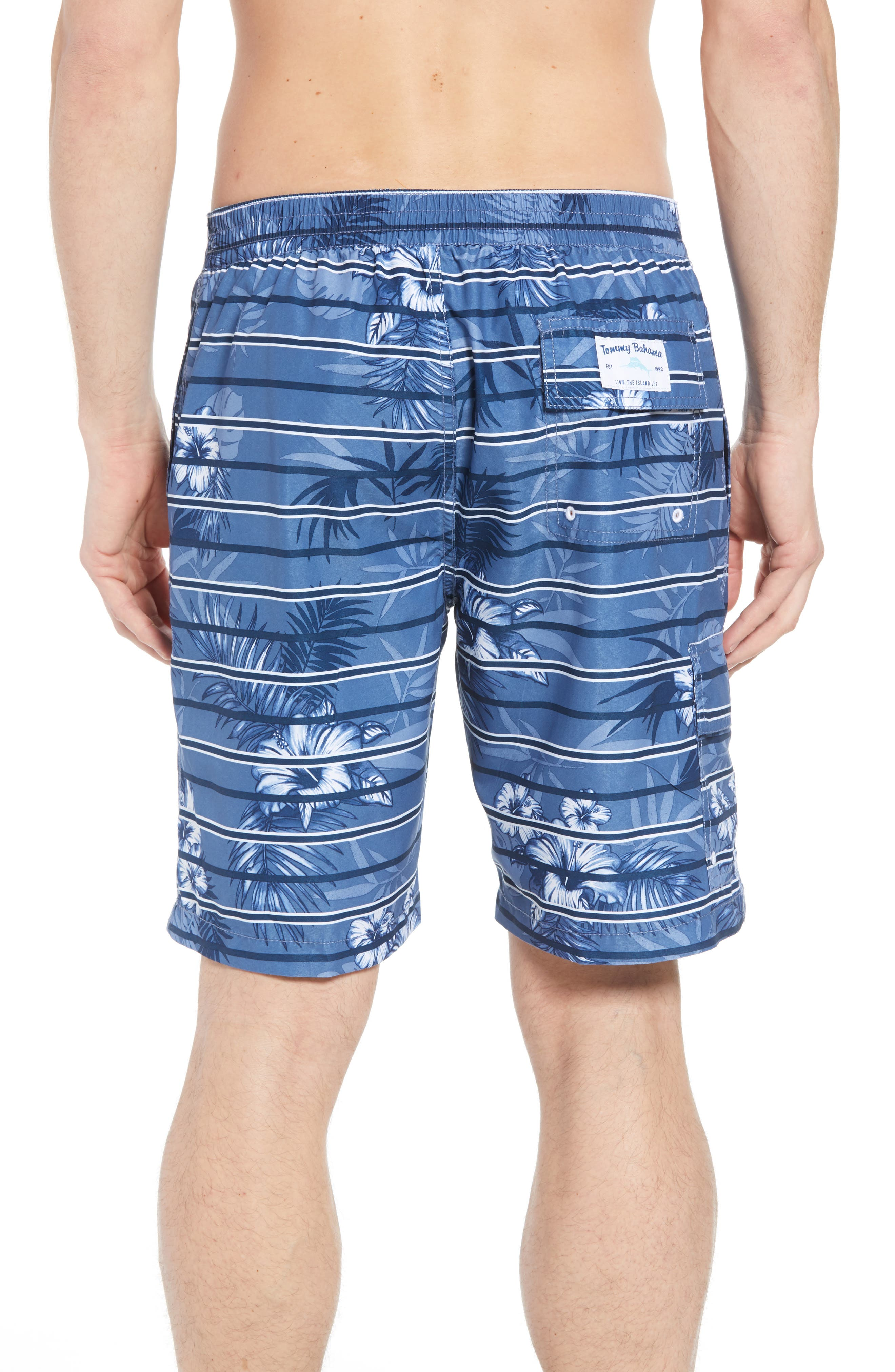 Baja Satillo Stripe Board Shorts,                             Alternate thumbnail 4, color,