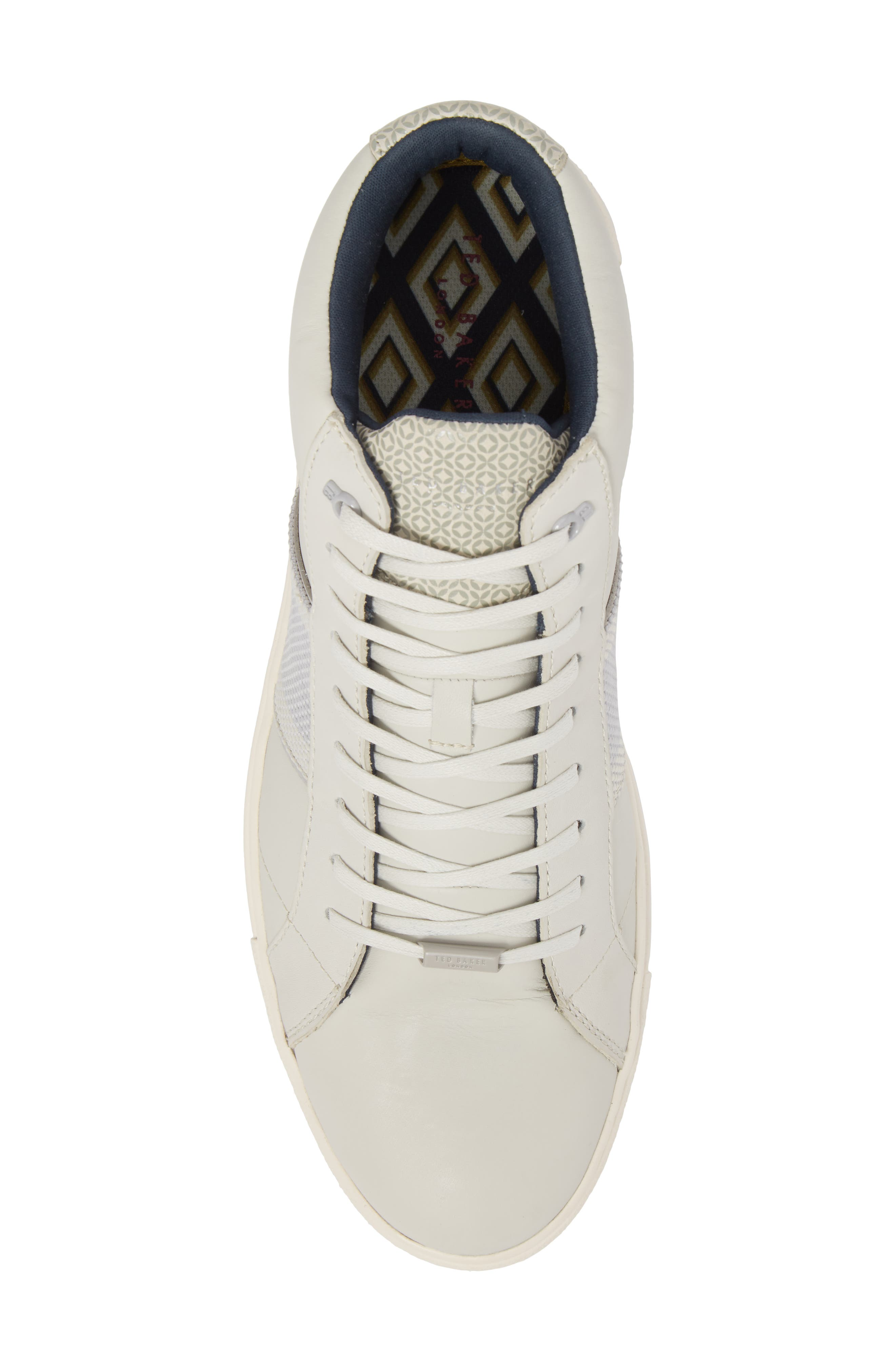 Cruuw High Top Sneaker,                             Alternate thumbnail 5, color,                             WHITE LEATHER