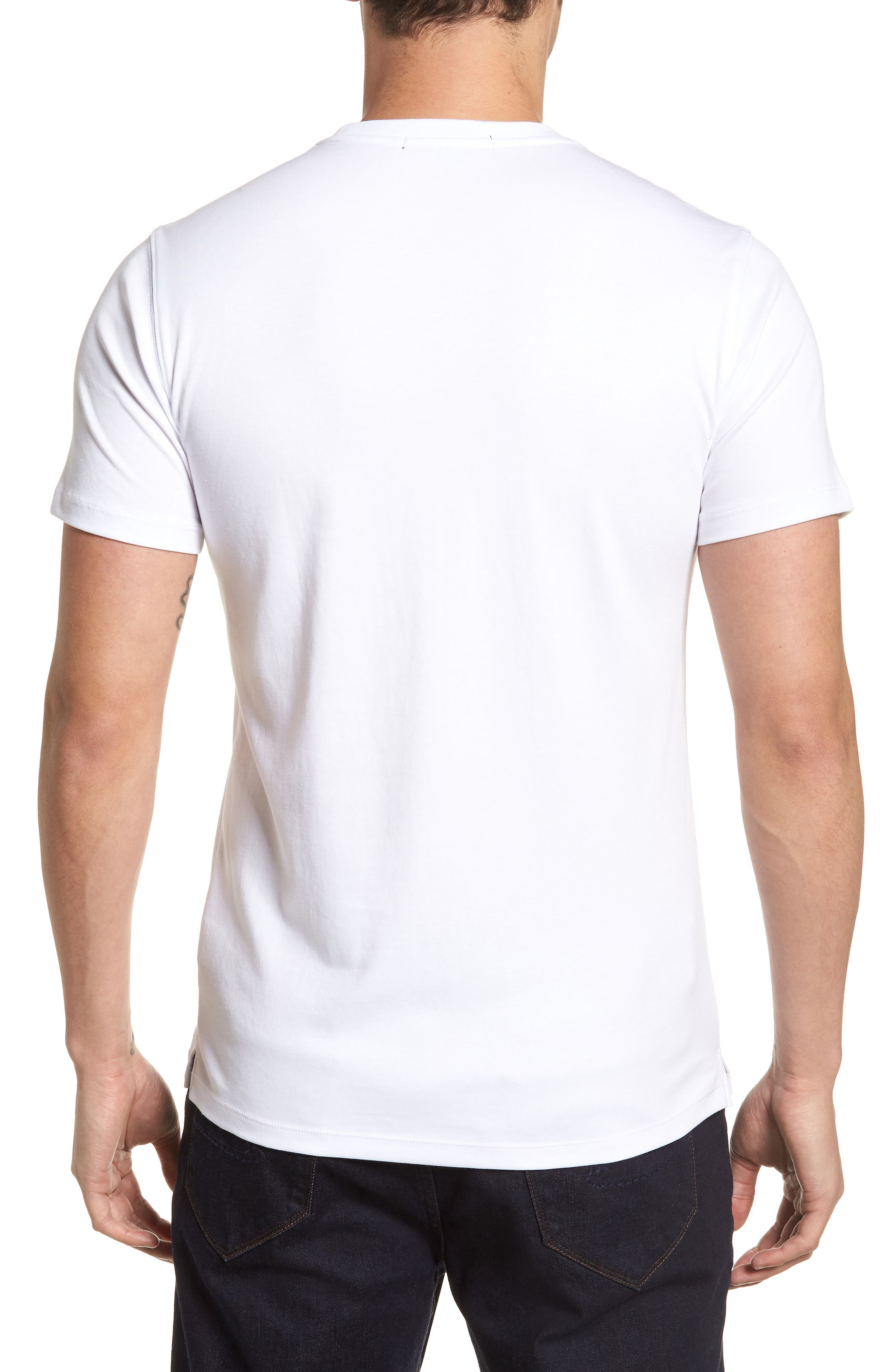 'Georgia' Crewneck T-Shirt,                             Alternate thumbnail 2, color,                             WHI