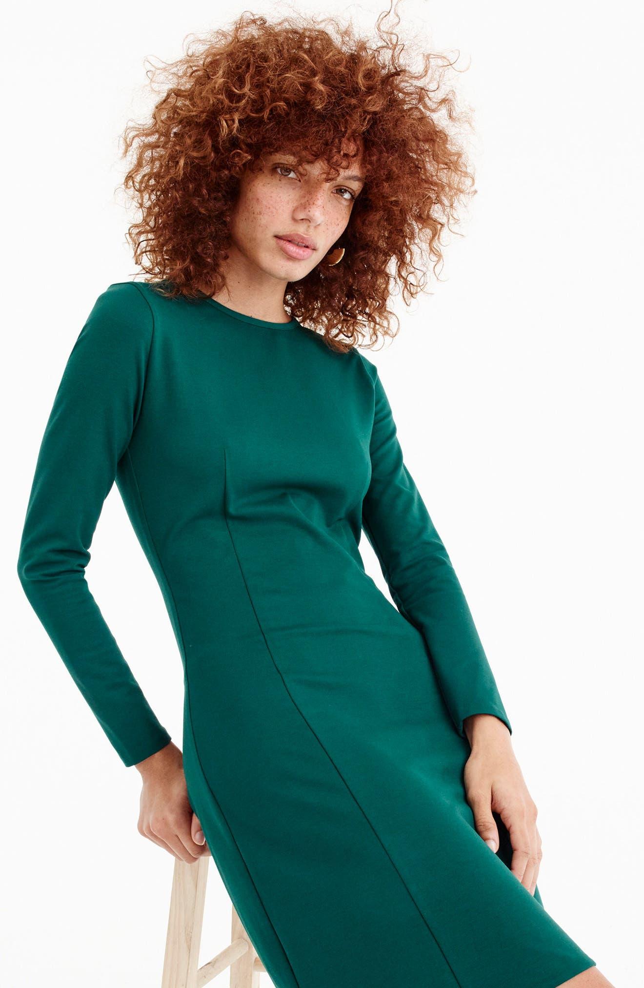 Storm Ponte Knit Dress,                             Alternate thumbnail 6, color,