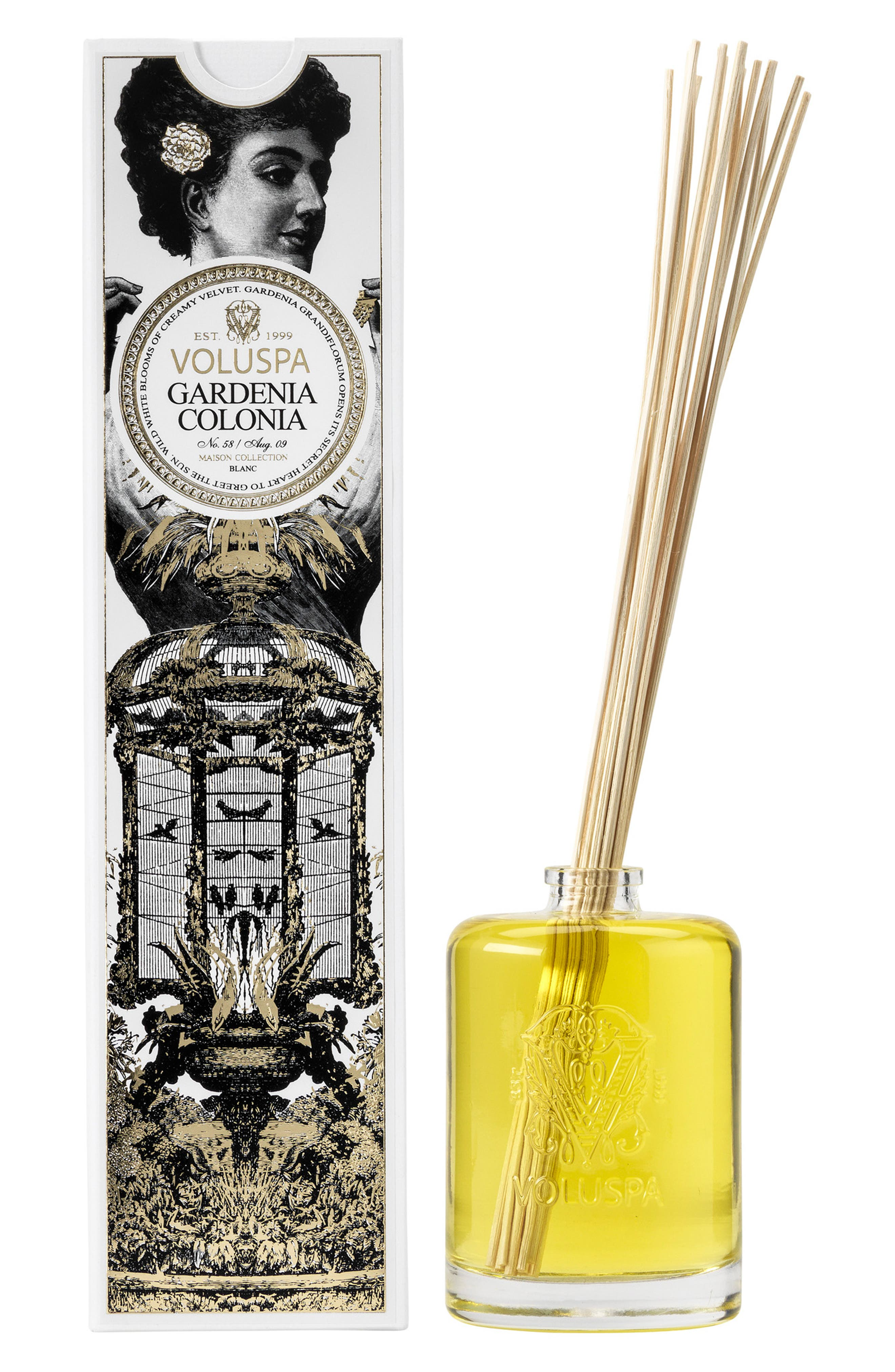 Maison Blanc Gardenia Colonia Fragrant Oil Diffuser,                             Main thumbnail 1, color,                             NO COLOR