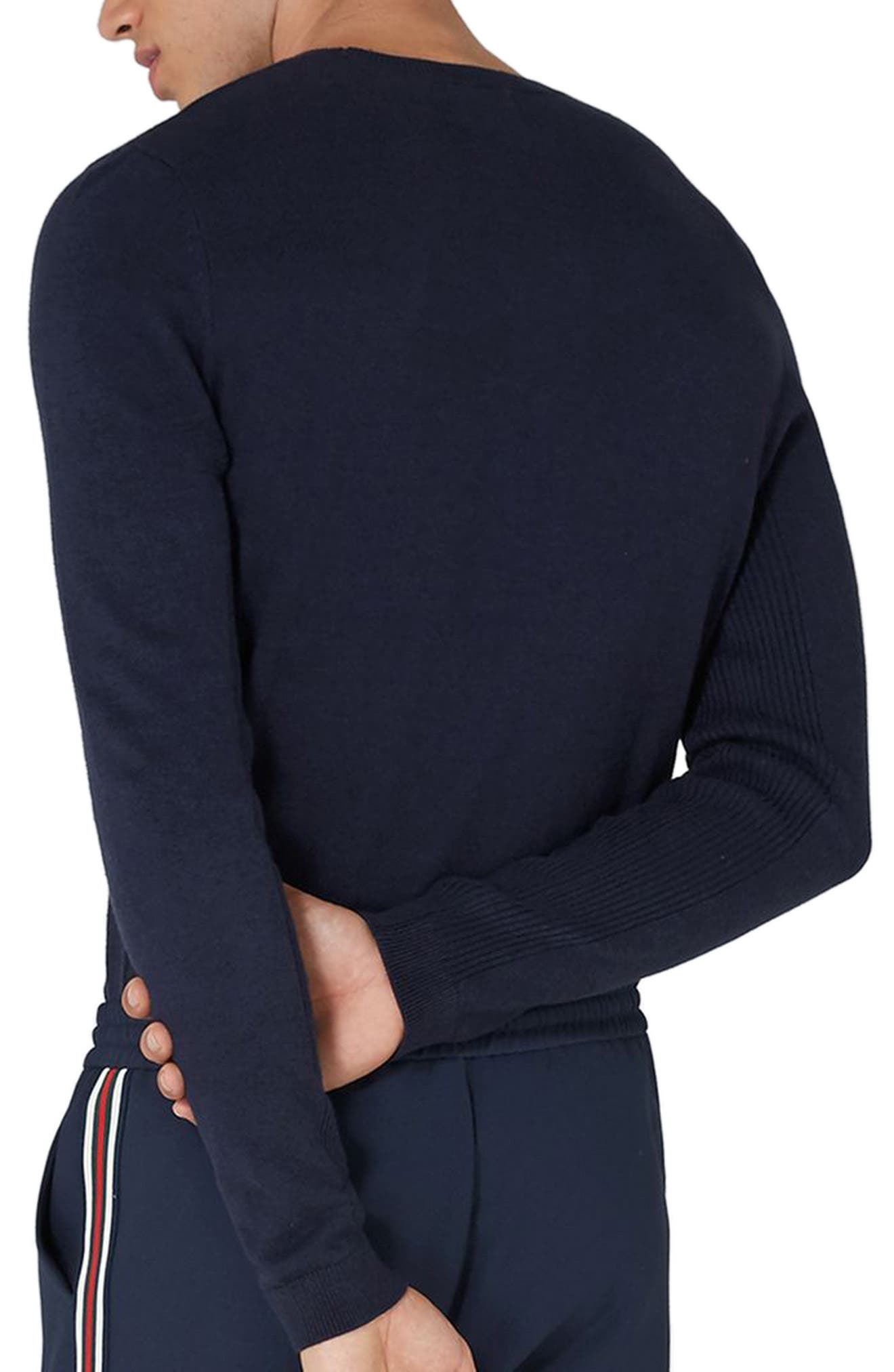 Side Ribbed Slim Fit Sweater,                             Alternate thumbnail 13, color,