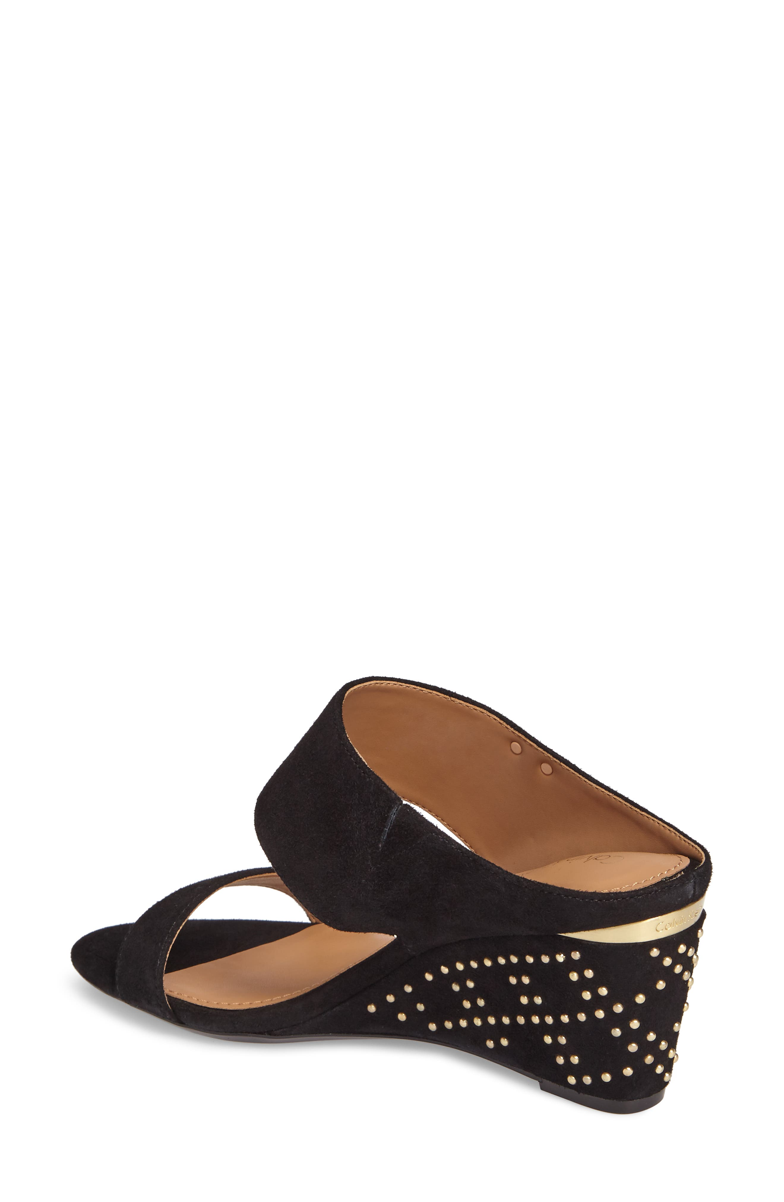 Phyllis Studded Wedge Sandal,                             Alternate thumbnail 2, color,                             002