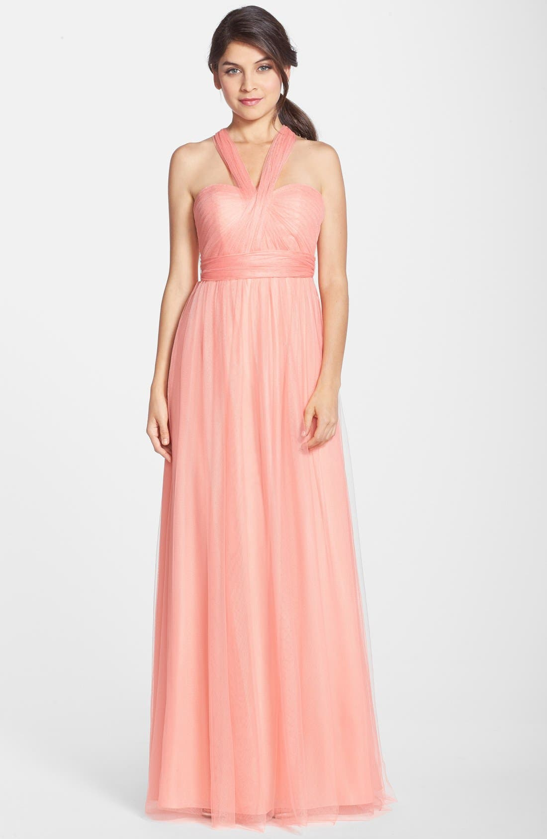 Annabelle Convertible Tulle Column Dress,                             Alternate thumbnail 62, color,