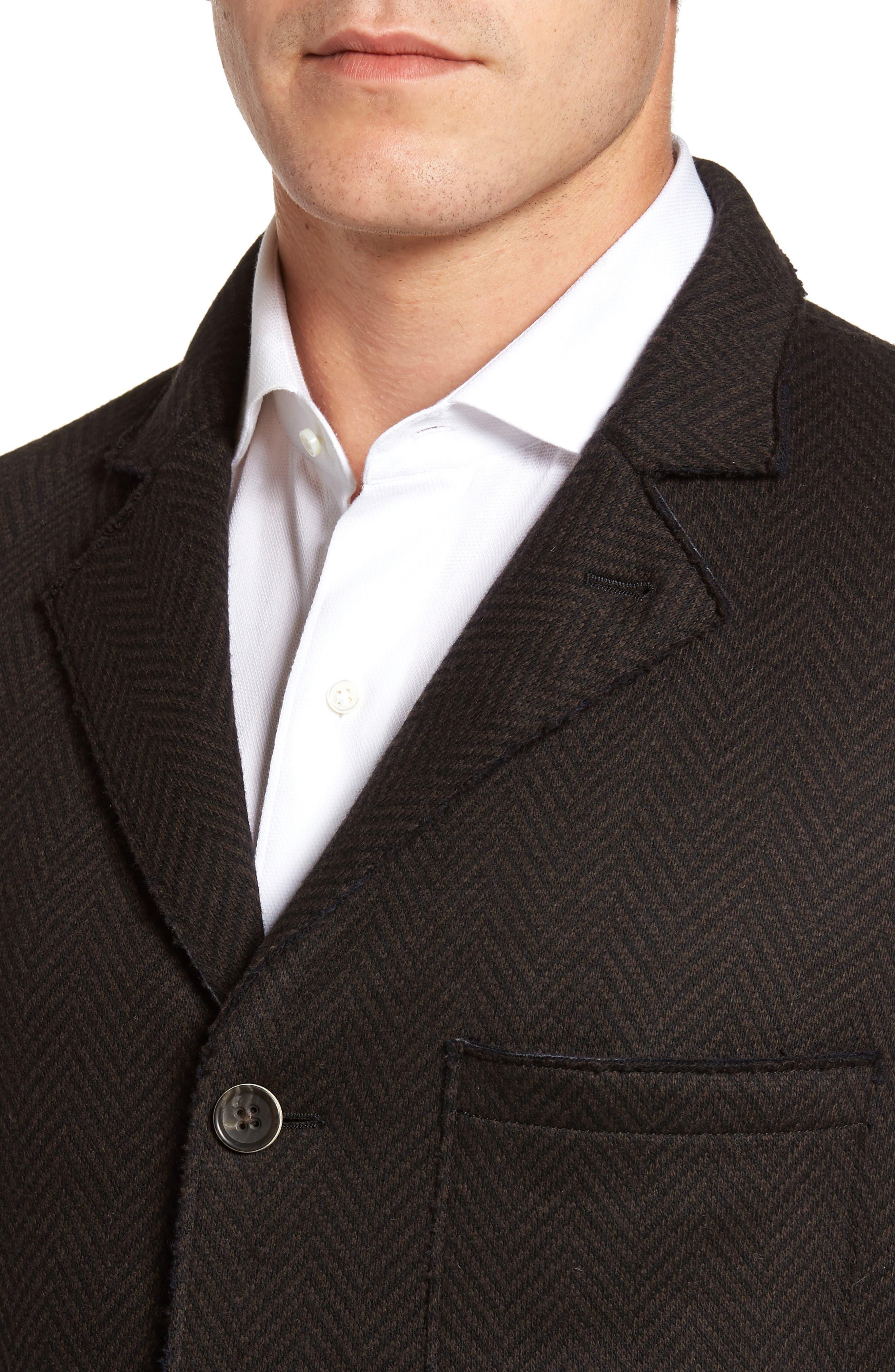 Laser Edge Wool Blend Jersey Sport Coat,                             Alternate thumbnail 4, color,                             201