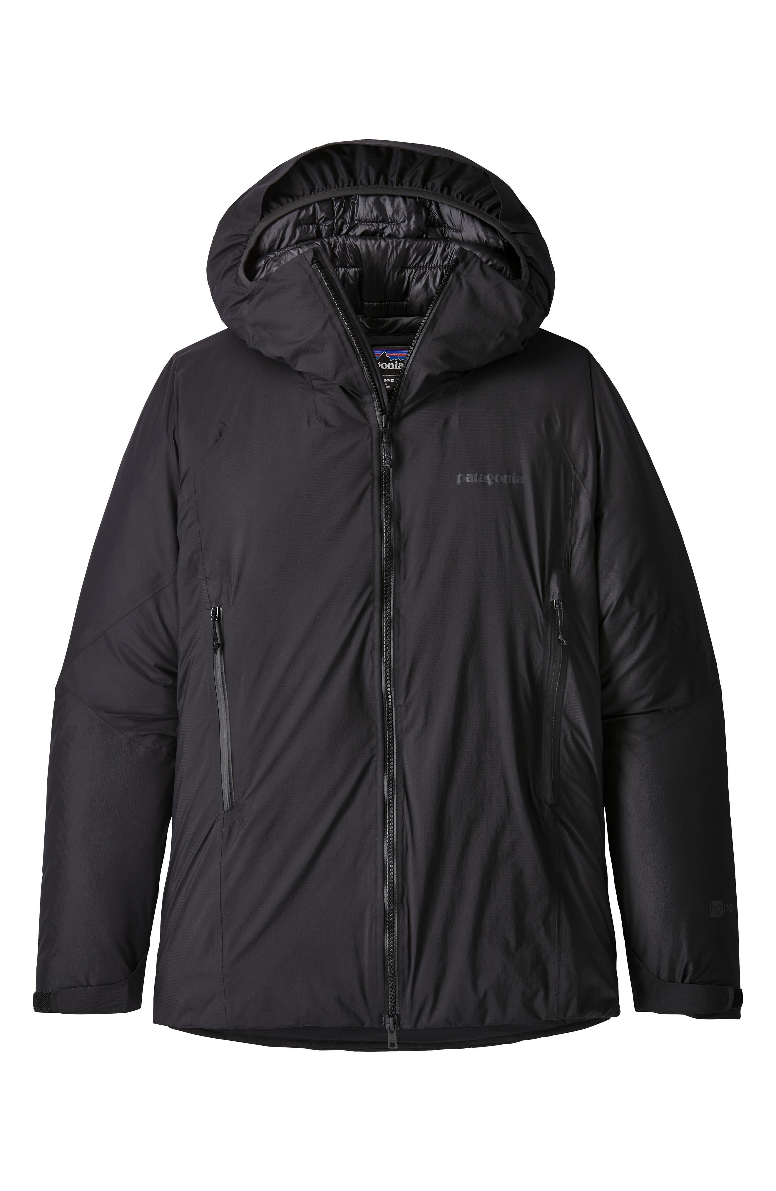 Micro Puff<sup>®</sup> Waterproof Storm Jacket,                             Alternate thumbnail 5, color,                             BLACK