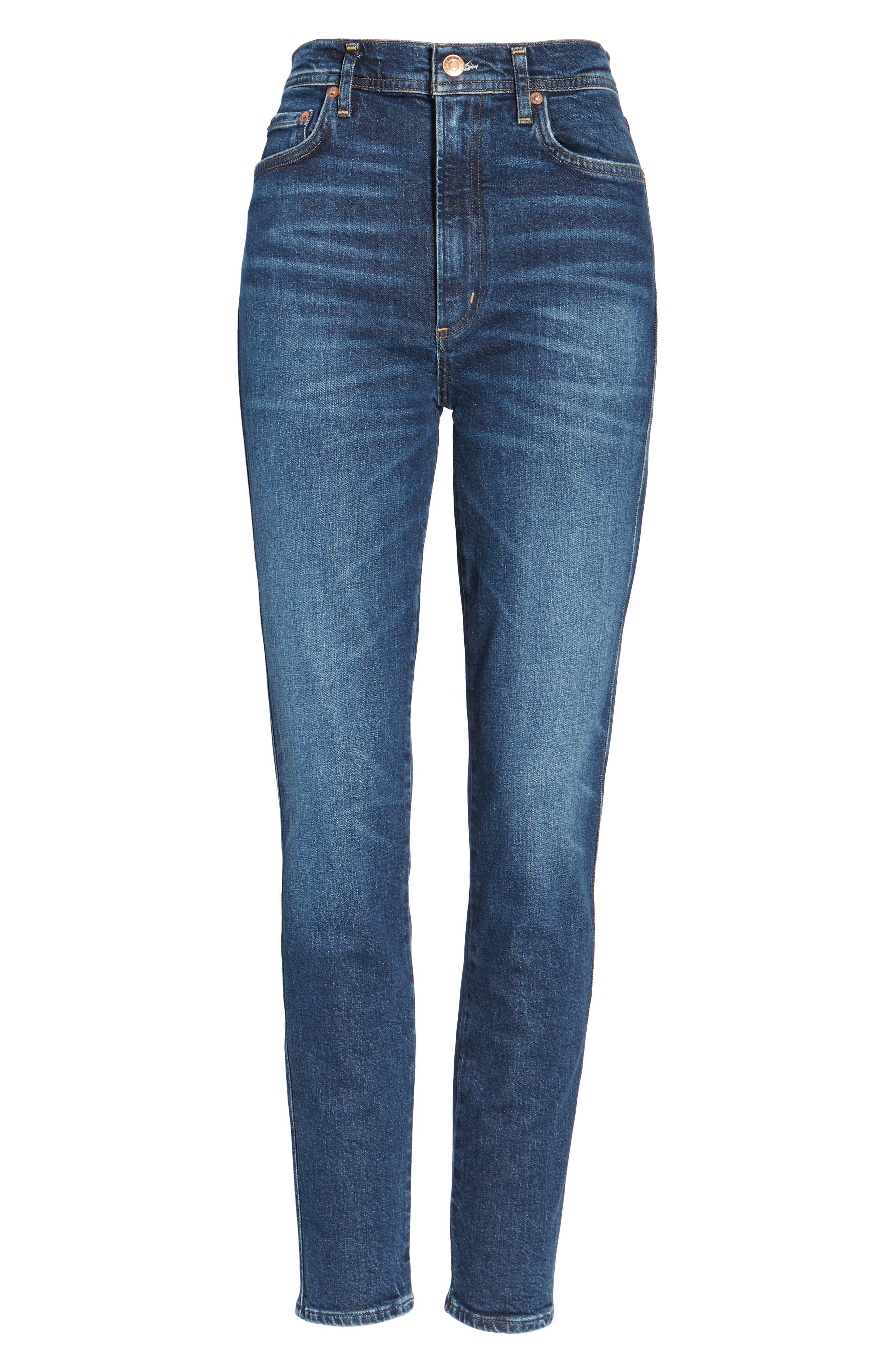 Roxanne Super High Rise Skinny Jeans,                             Alternate thumbnail 7, color,