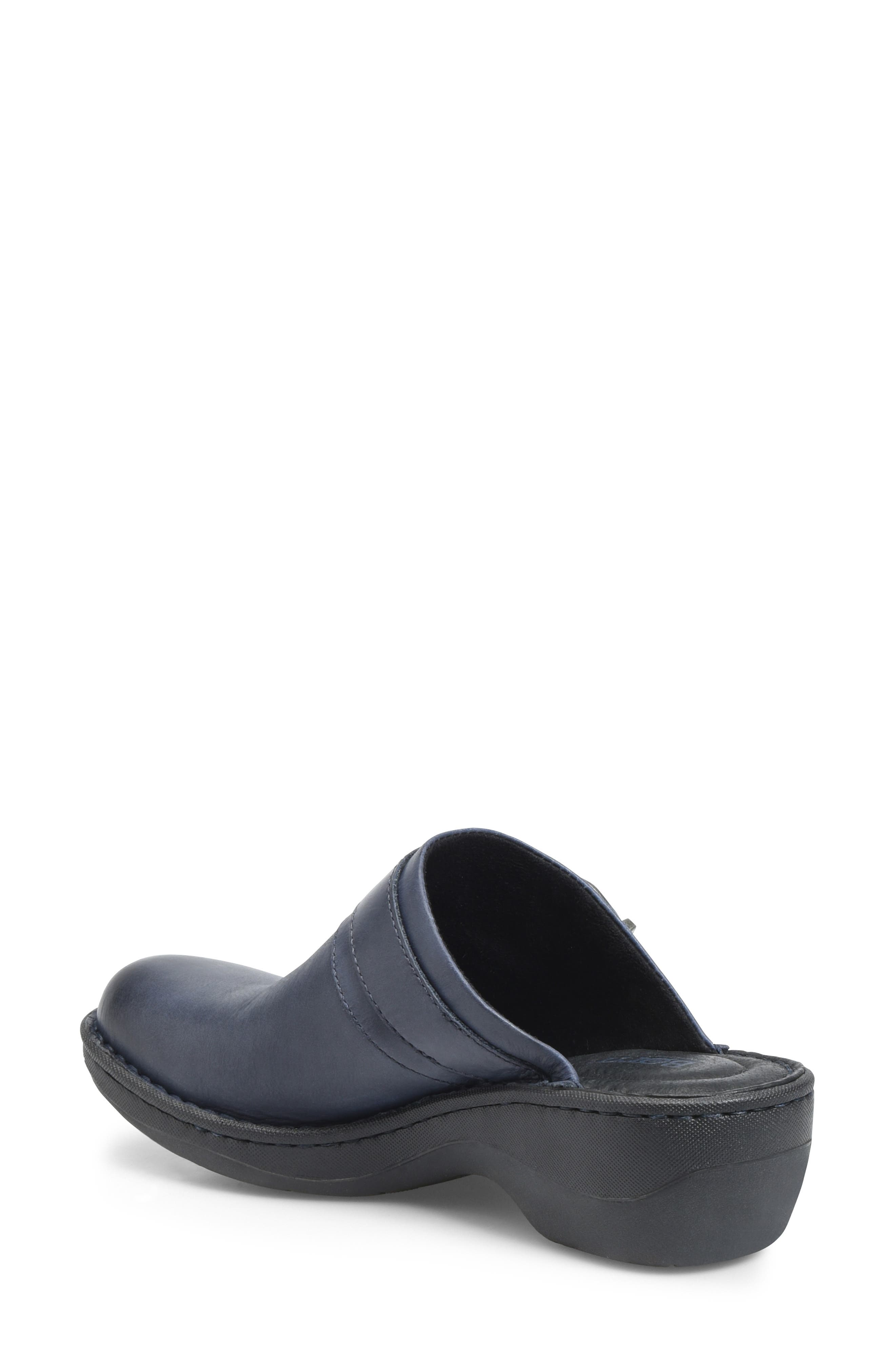 Avoca Clog,                             Alternate thumbnail 2, color,                             NAVY LEATHER