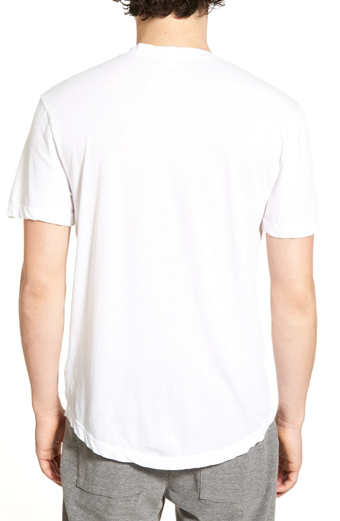 'Clear Jersey' Mélange V-Neck T-Shirt,                             Alternate thumbnail 16, color,