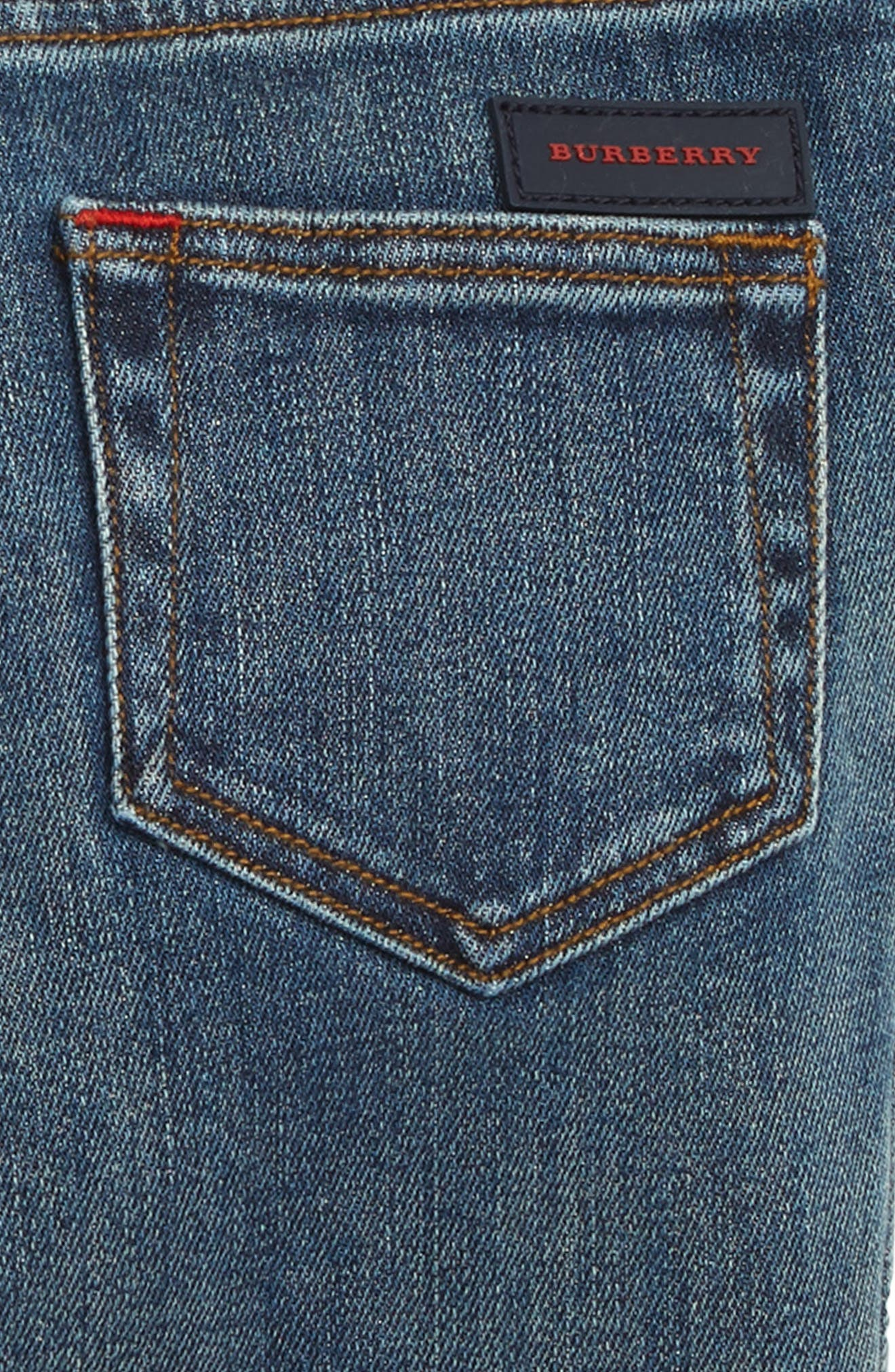 Pull-On Jeans,                             Alternate thumbnail 3, color,                             MID INDIGO