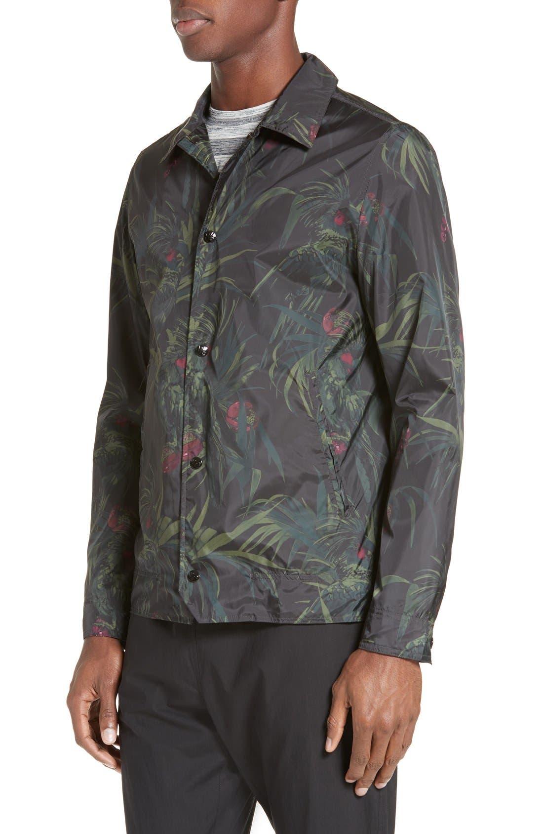 Dark Tropical Woven Work Jacket,                             Alternate thumbnail 11, color,                             005