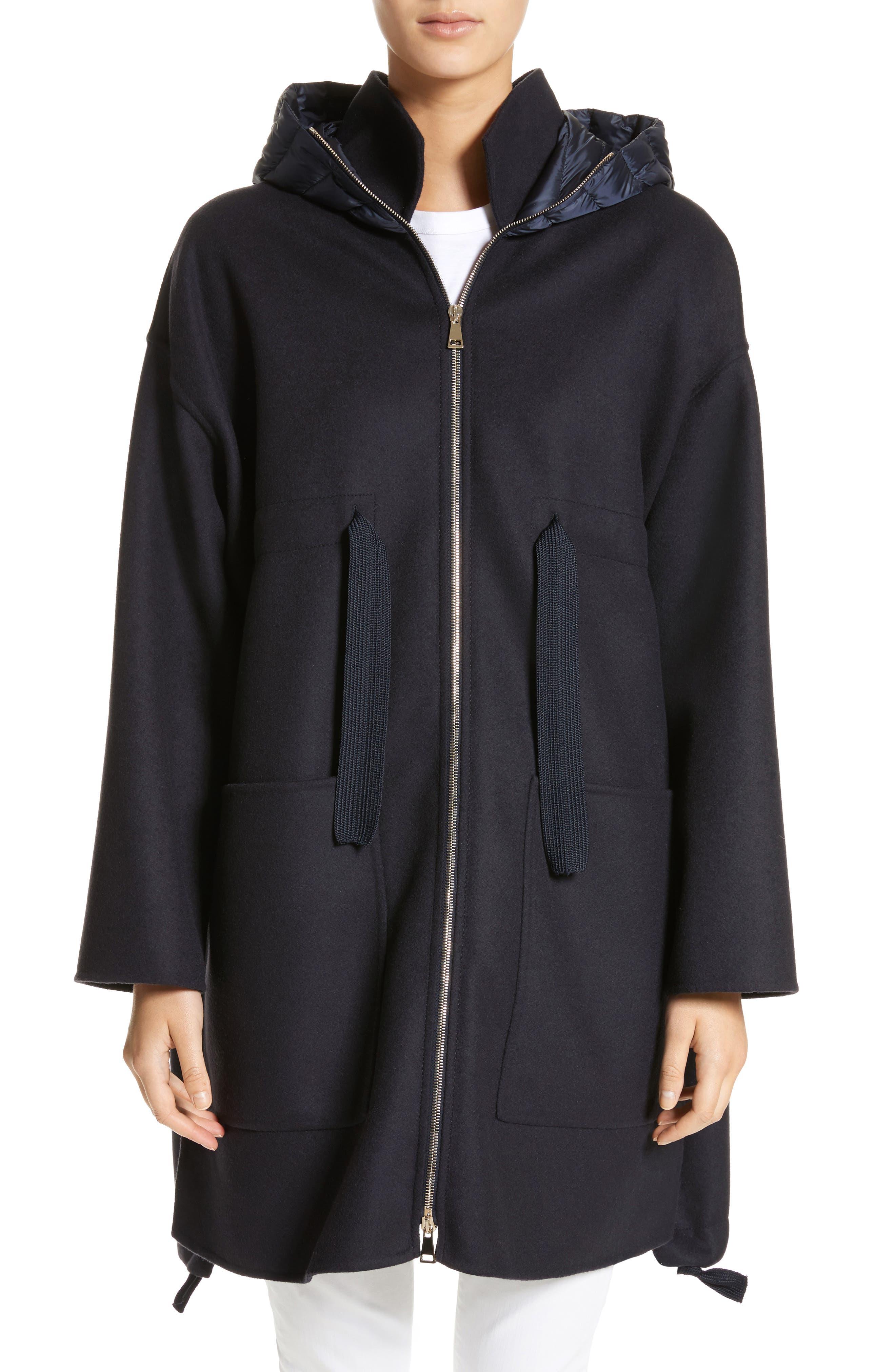 Grenat Wool & Cashmere Hooded Jacket,                         Main,                         color, 419