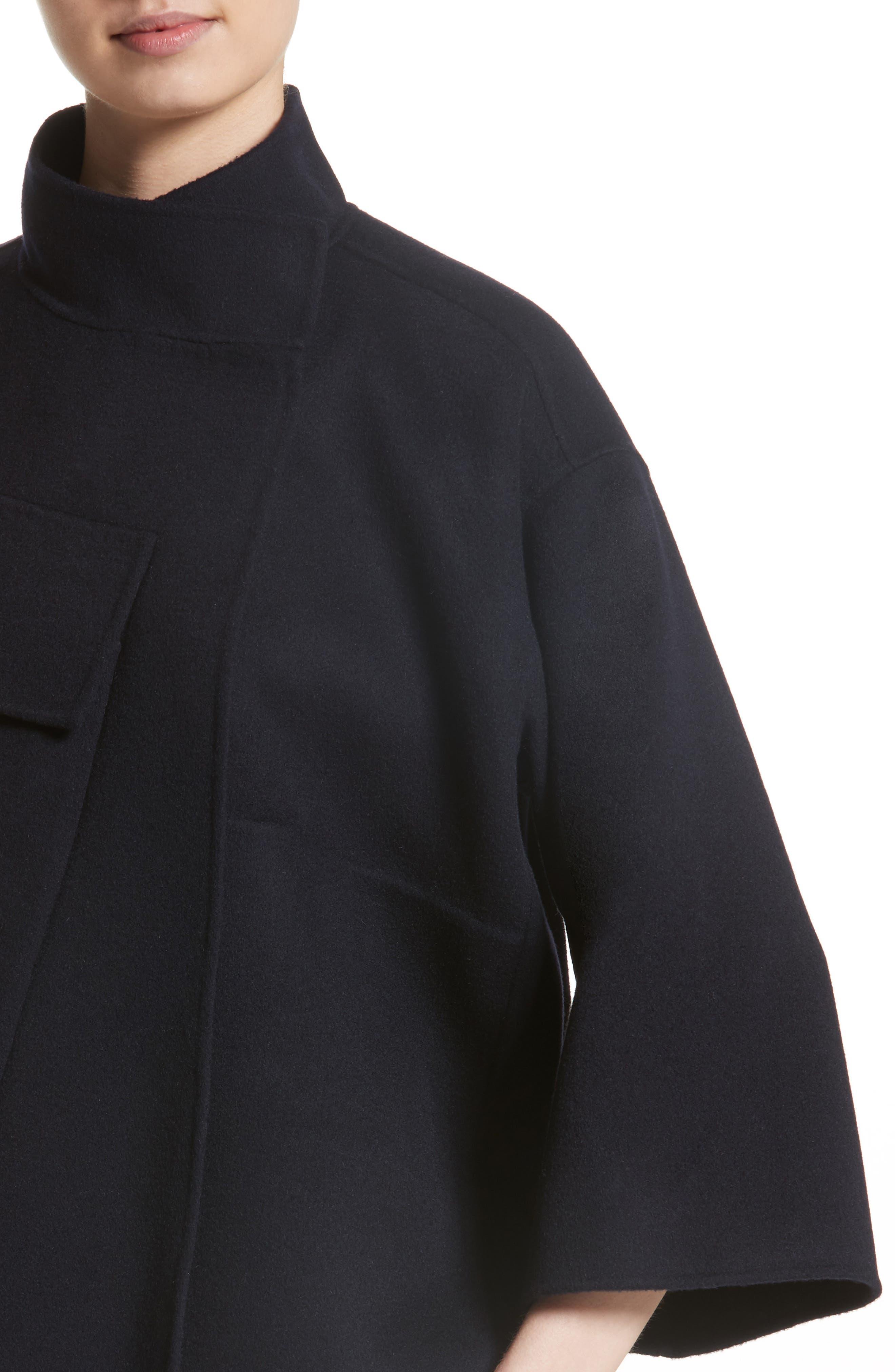 Crop Wool & Cashmere Jacket,                             Alternate thumbnail 4, color,                             410