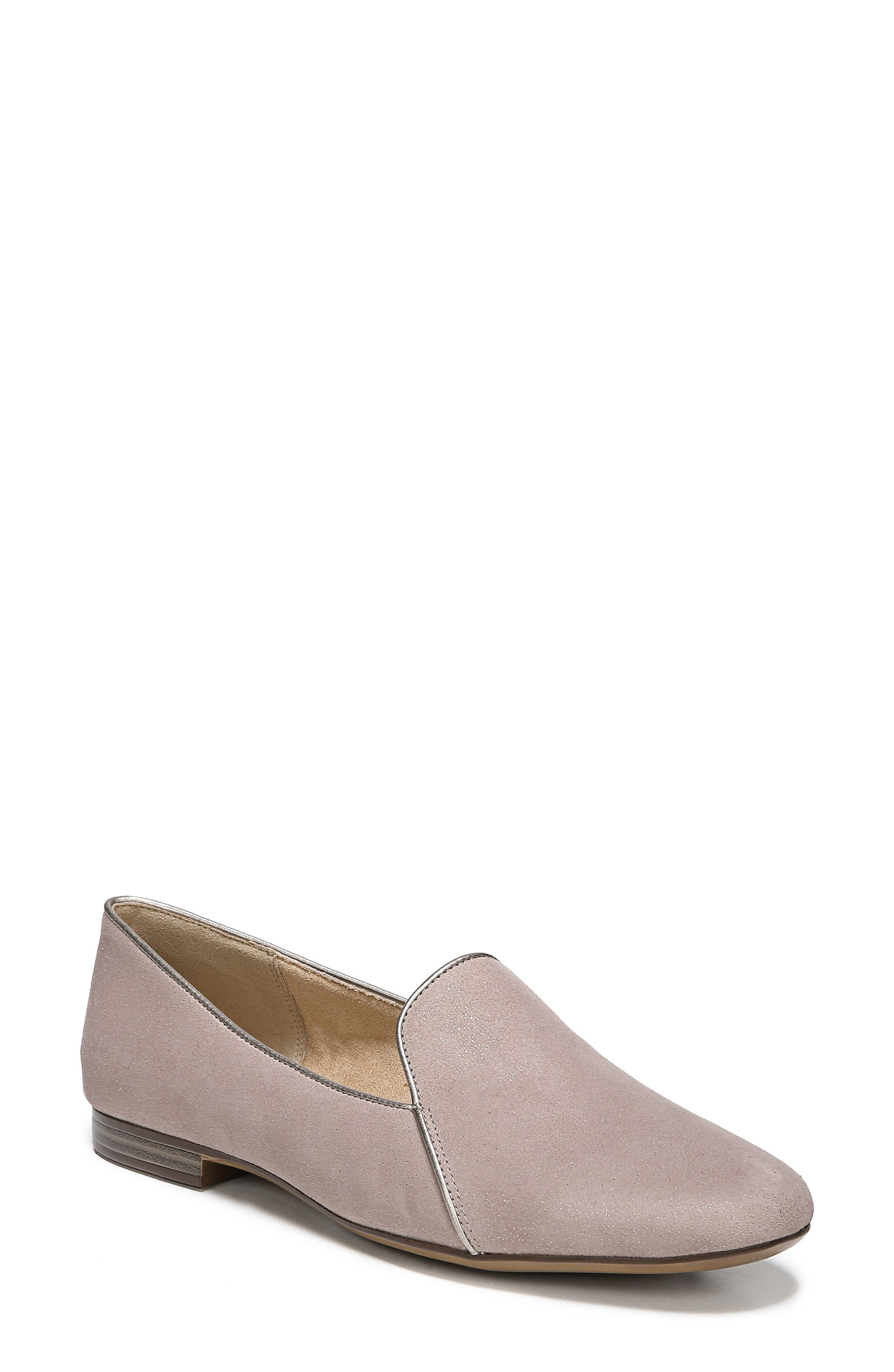 Emiline 2 Loafer,                             Main thumbnail 1, color,                             TAUPE GLITTER DUST SUEDE
