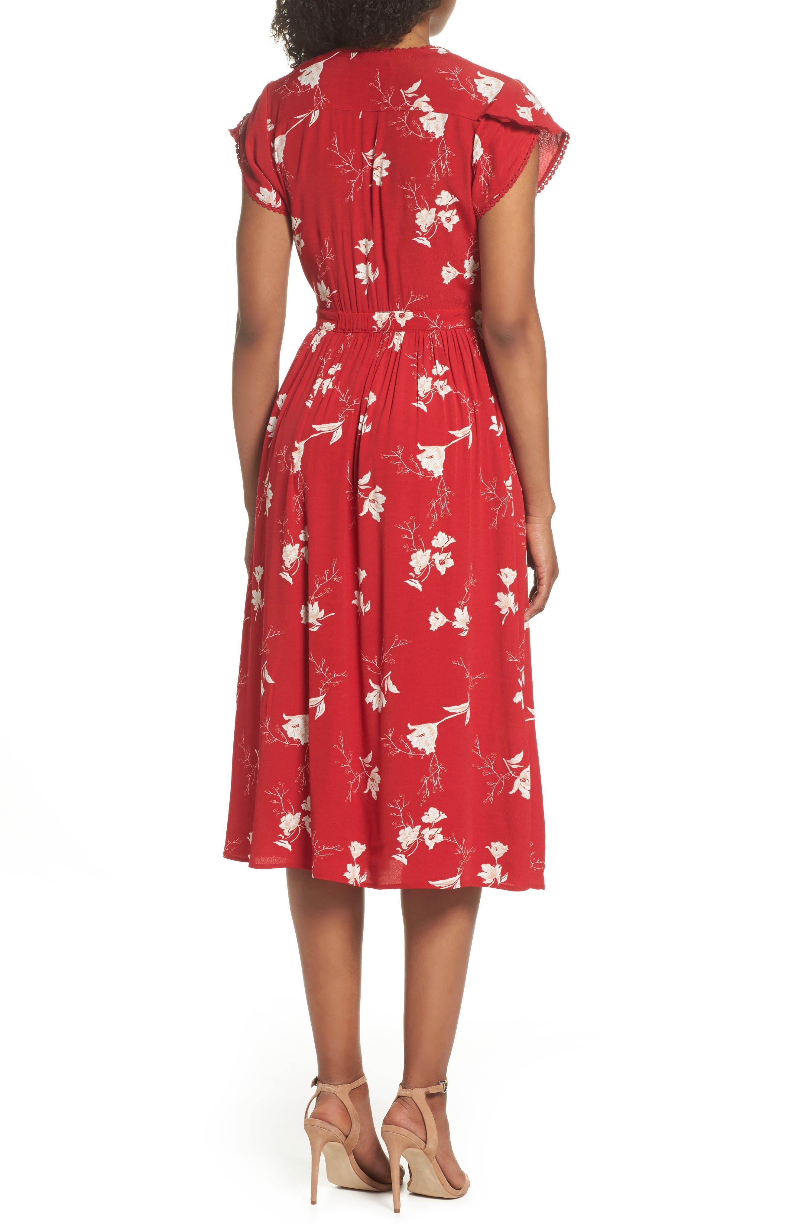 Domingo Midi Dress,                             Alternate thumbnail 2, color,                             617