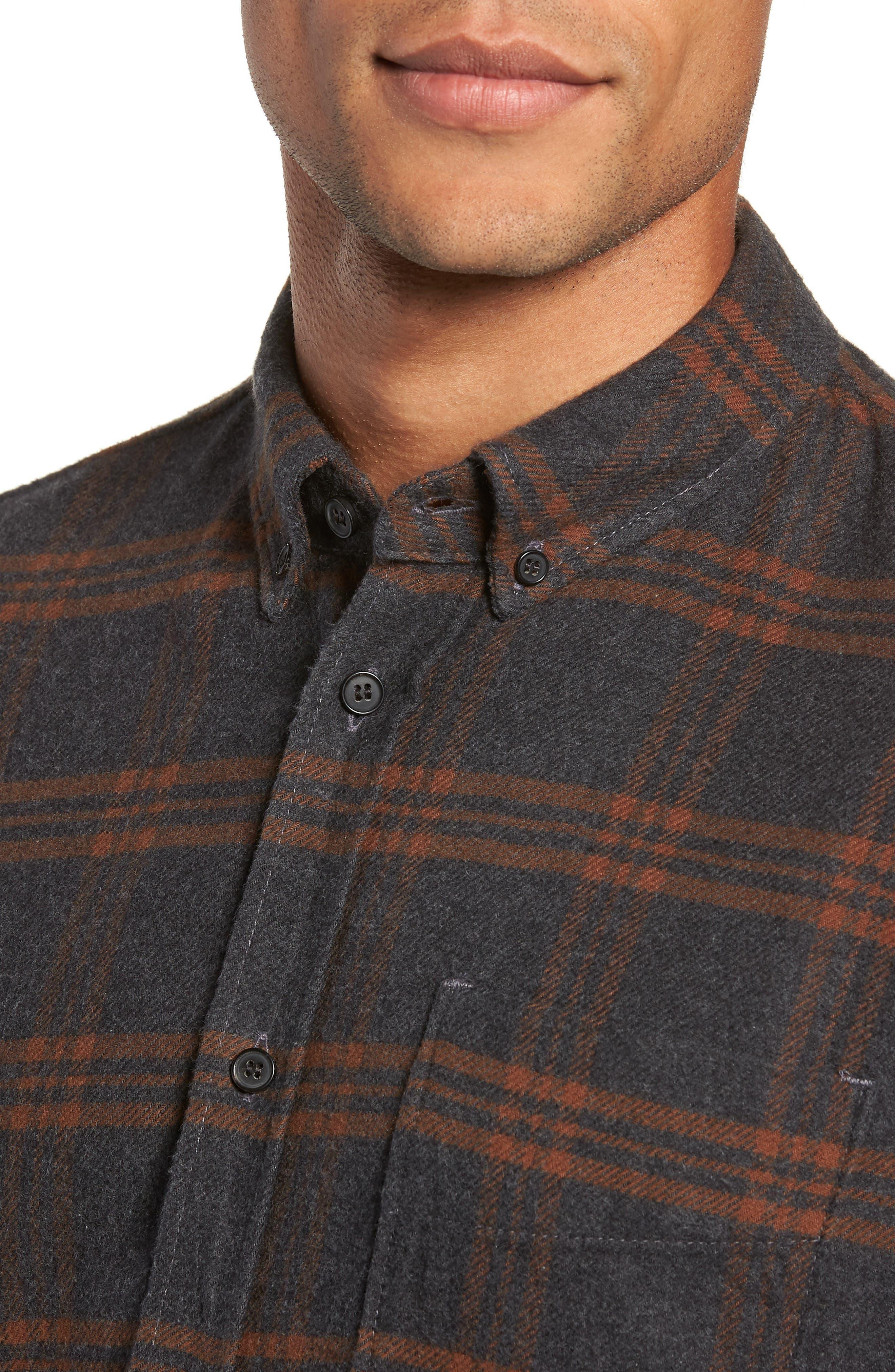 BILLY REID,                             Plaid Cotton Flannel Shirt,                             Alternate thumbnail 4, color,                             020