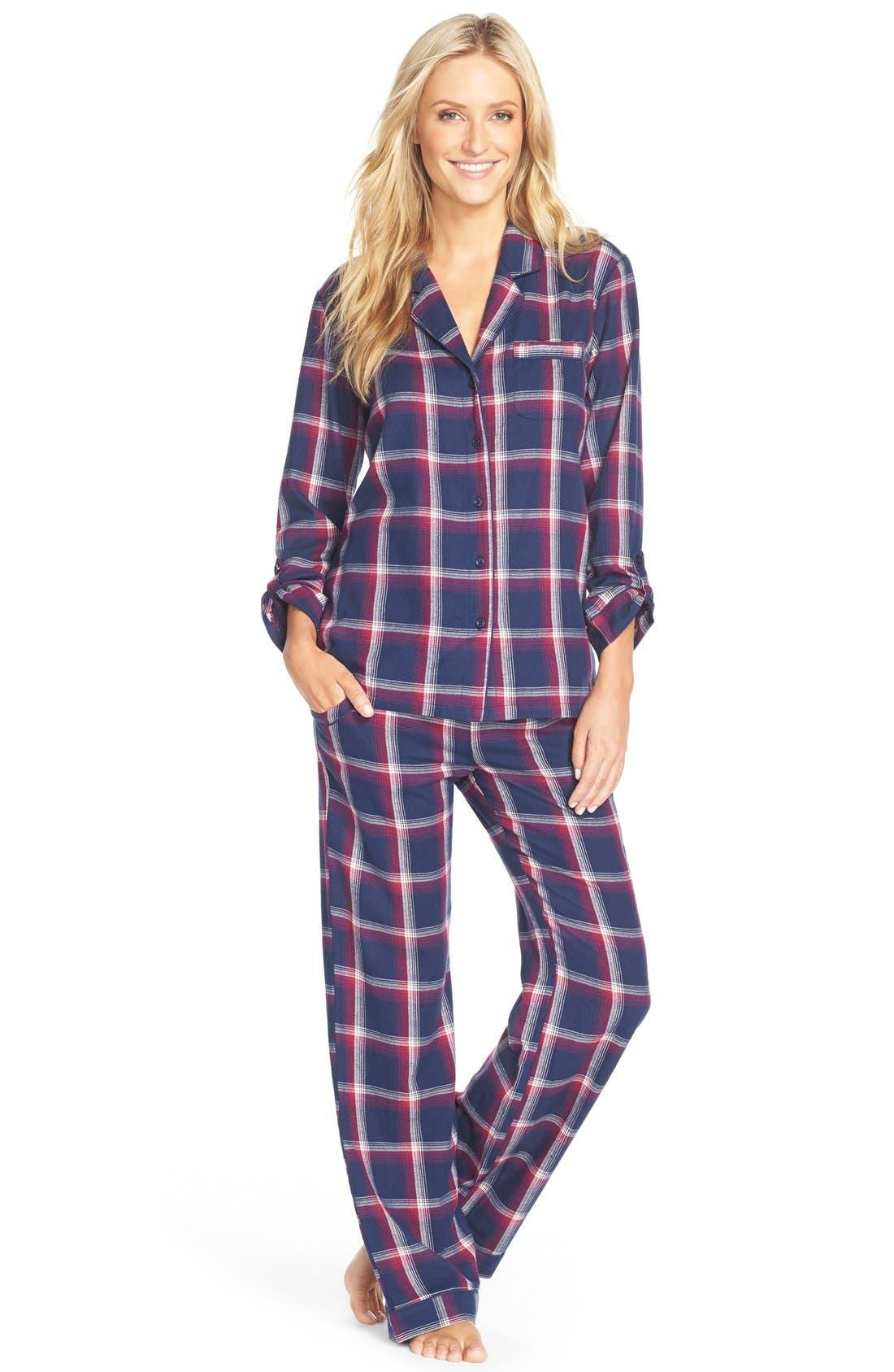 Cotton Twill Pajamas,                             Main thumbnail 4, color,