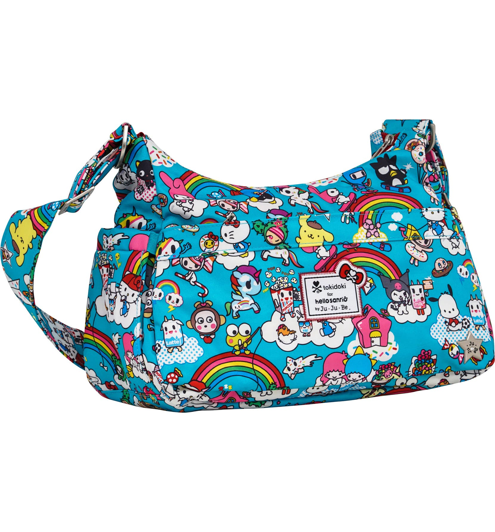 4bb59070282e Ju-Ju-Be x tokidoki for Hello Sanrio Rainbow Dreams Be Hobo Diaper Bag