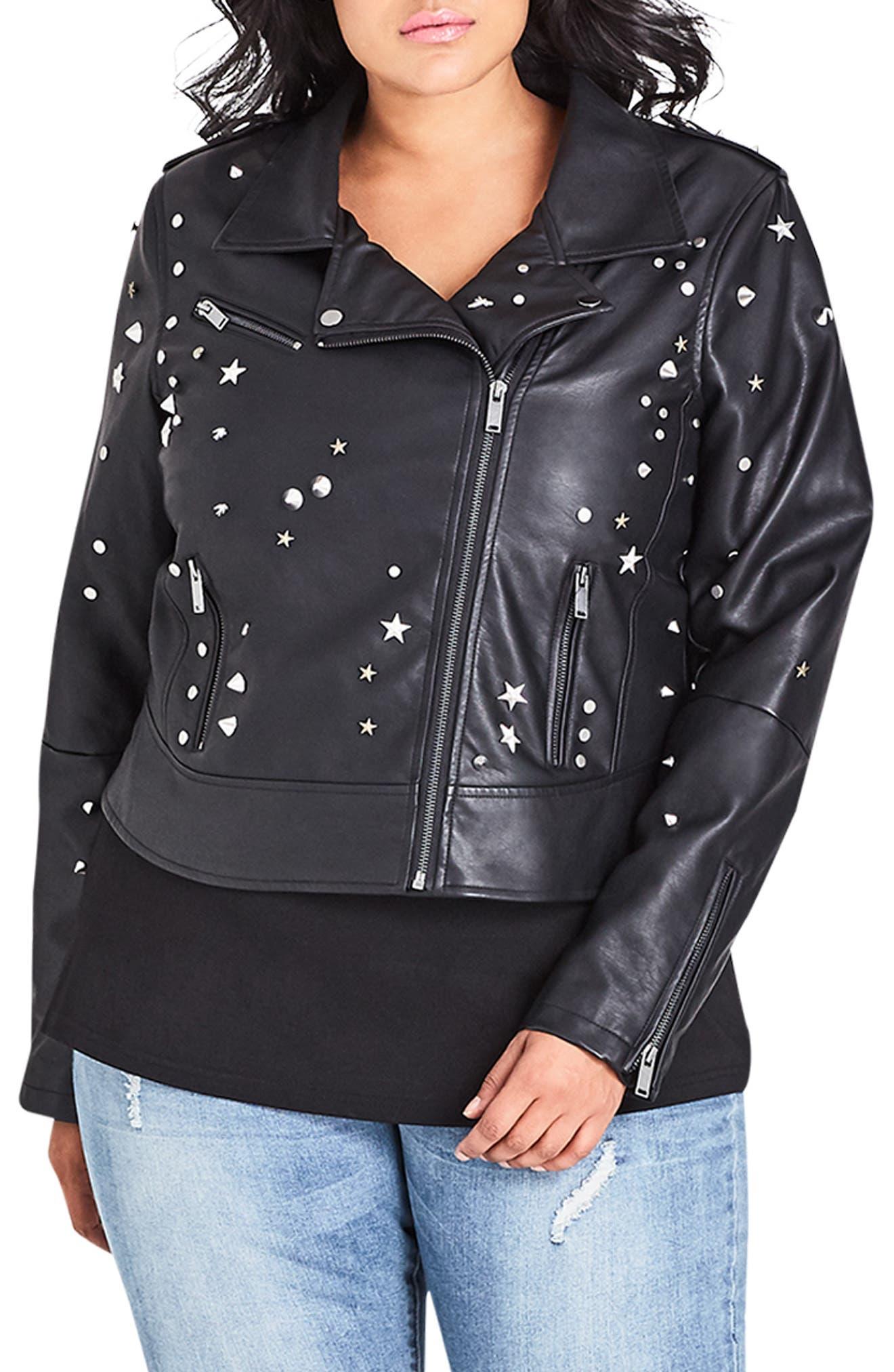 Rock Stud Jacket,                         Main,                         color, 001