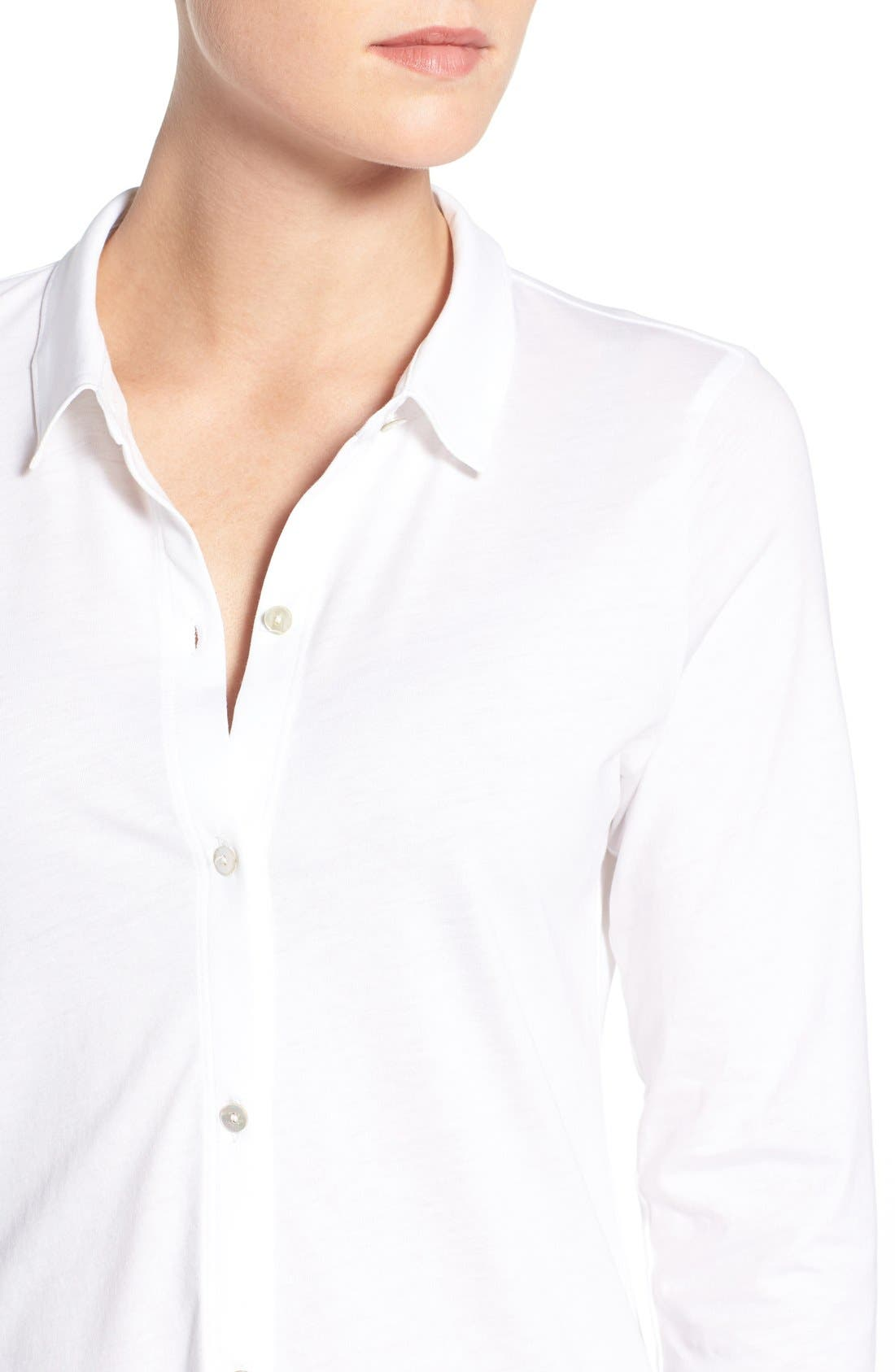 Organic Cotton Jersey Classic Collar Shirt,                             Alternate thumbnail 15, color,
