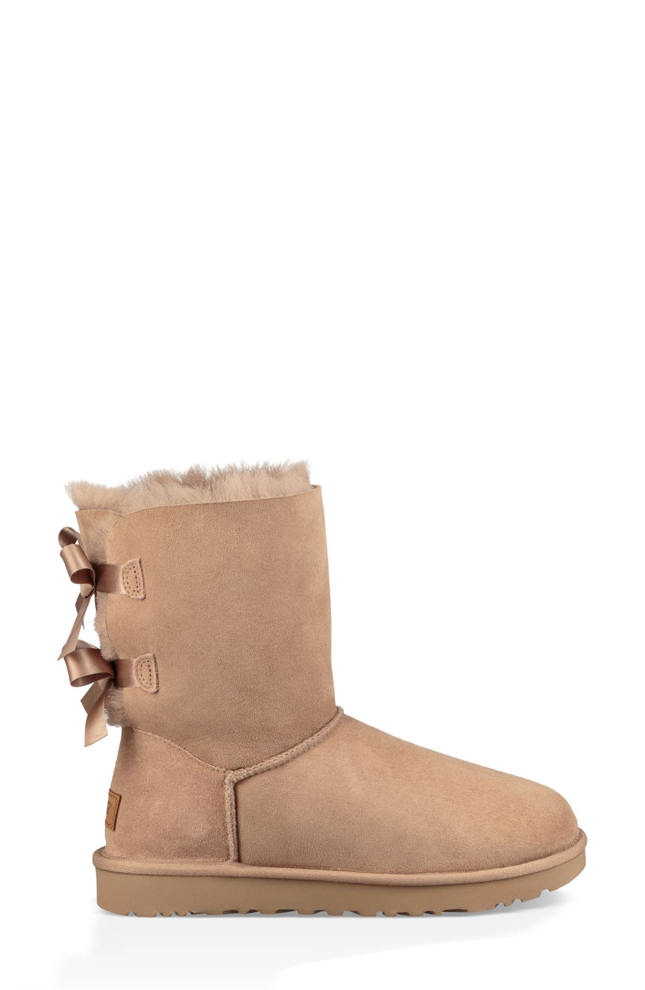 'Bailey Bow II' Boot,                             Alternate thumbnail 3, color,                             FAWN