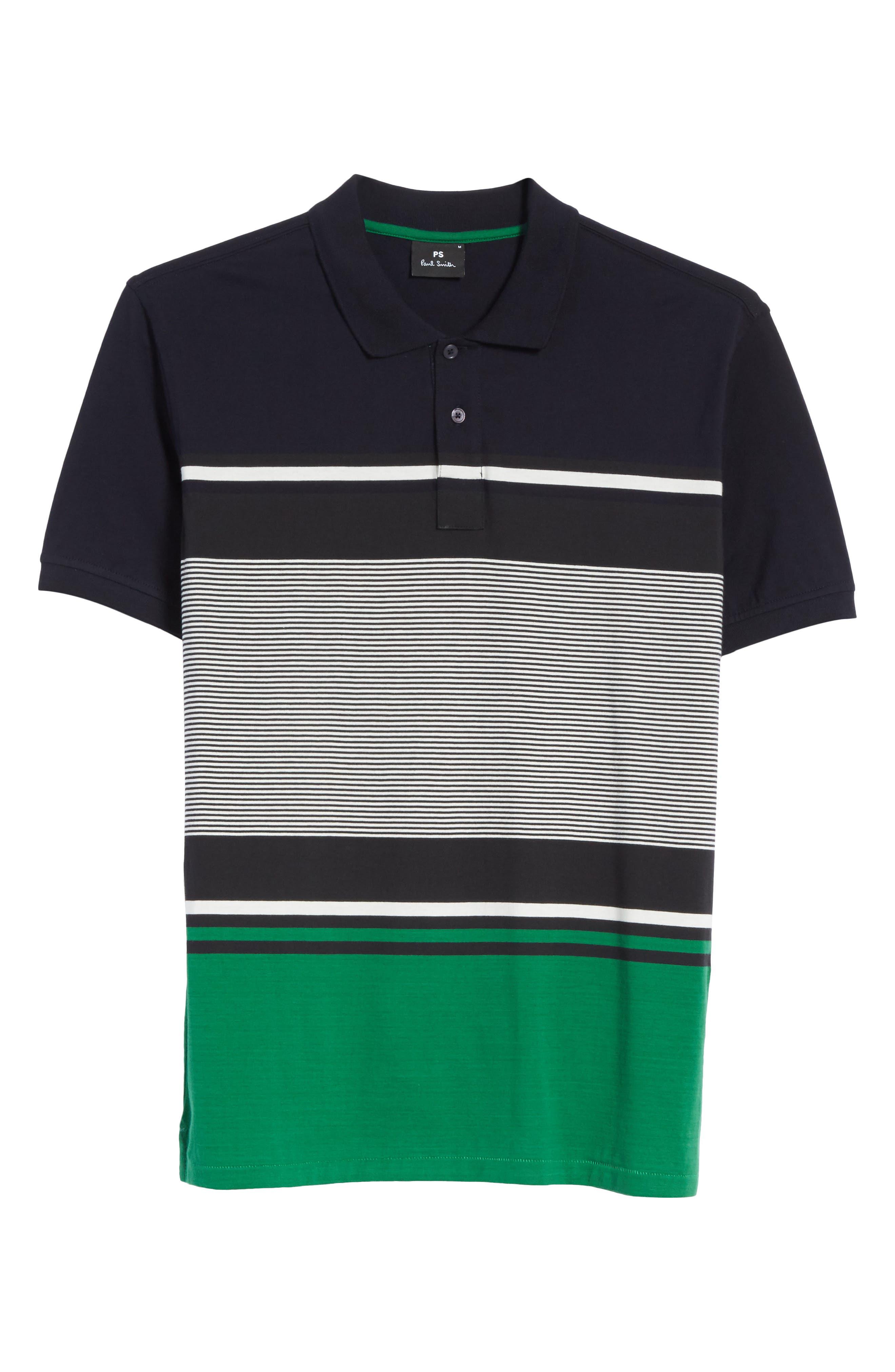 Stripe Jersey Polo,                             Alternate thumbnail 6, color,                             410