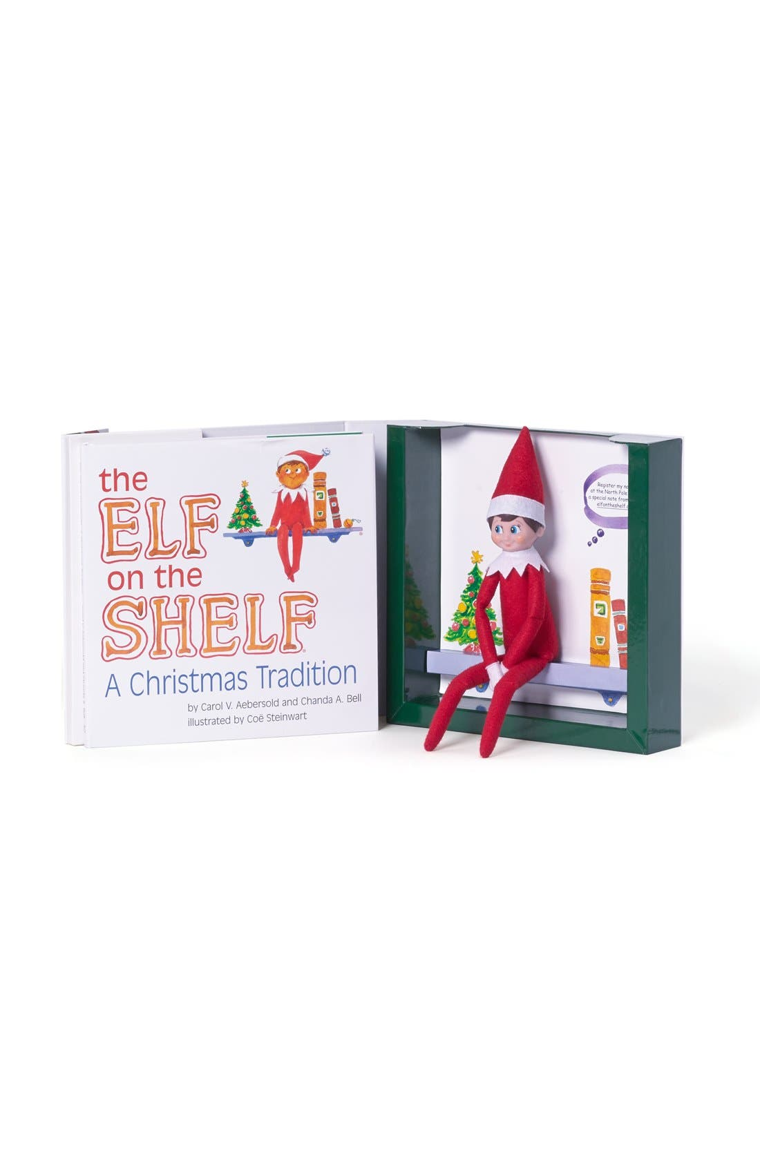 Carol Aebersold and Chanda Bell 'The Elf on the Shelf<sup>®</sup>: A Christmas Tradition<sup>™</sup>' Book & Elf,                             Alternate thumbnail 4, color,                             LIGHT SKIN BOY ELF