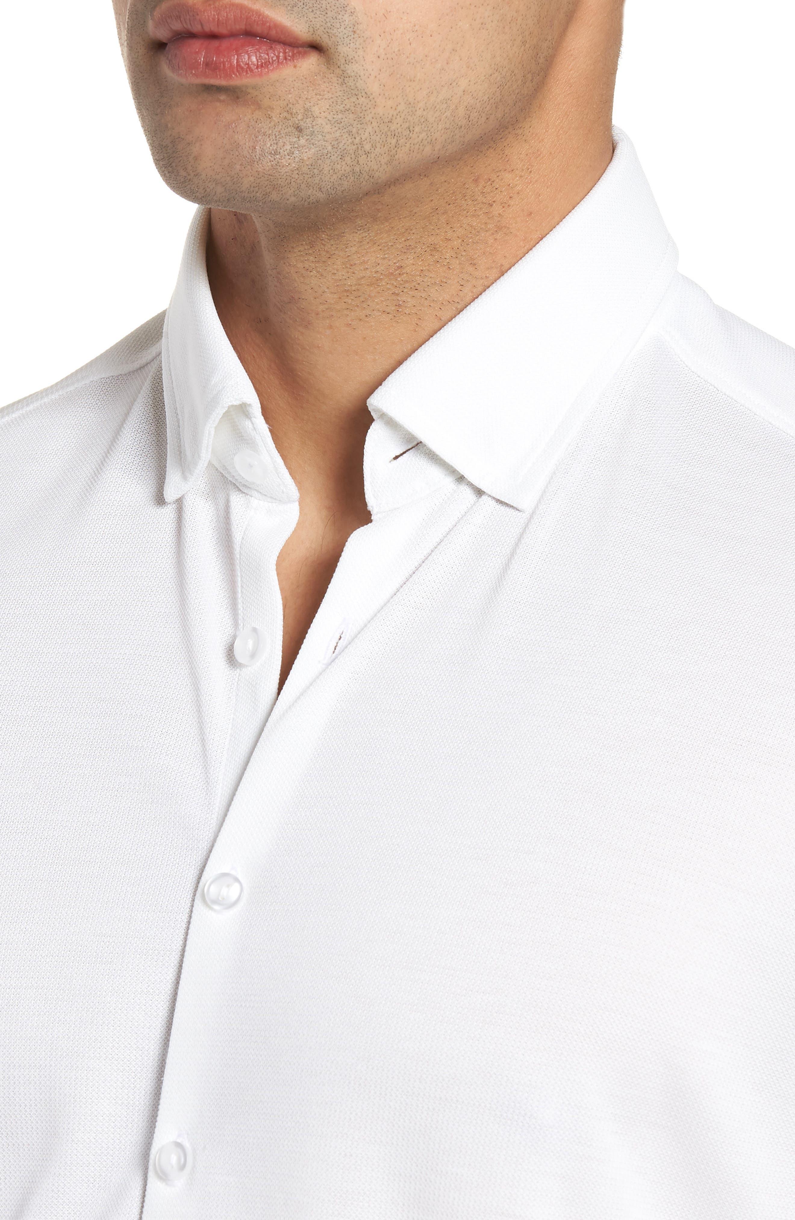 Knit Sport Shirt,                             Alternate thumbnail 4, color,                             100