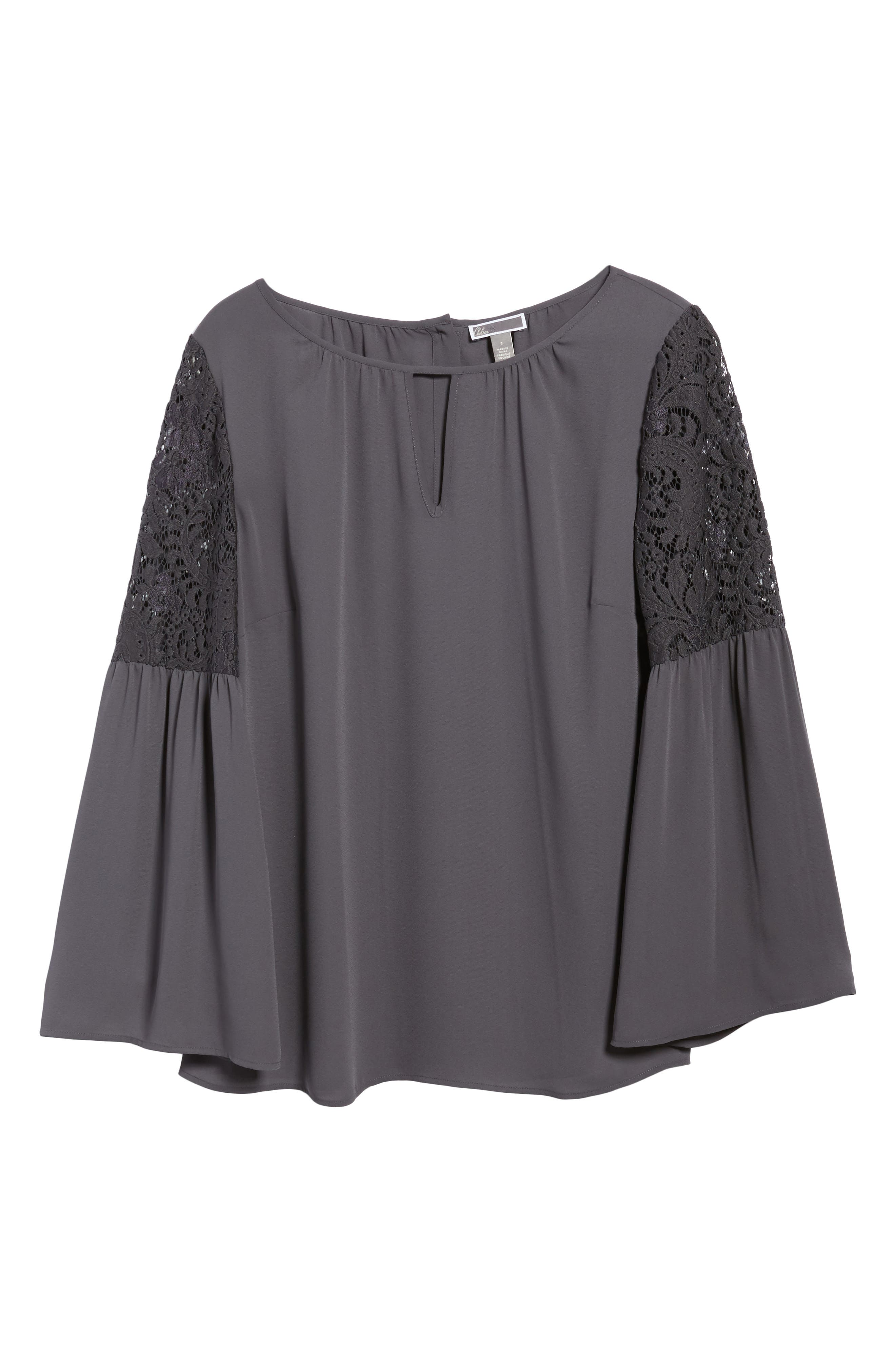 Lace Bell Sleeve Top,                             Alternate thumbnail 7, color,                             021