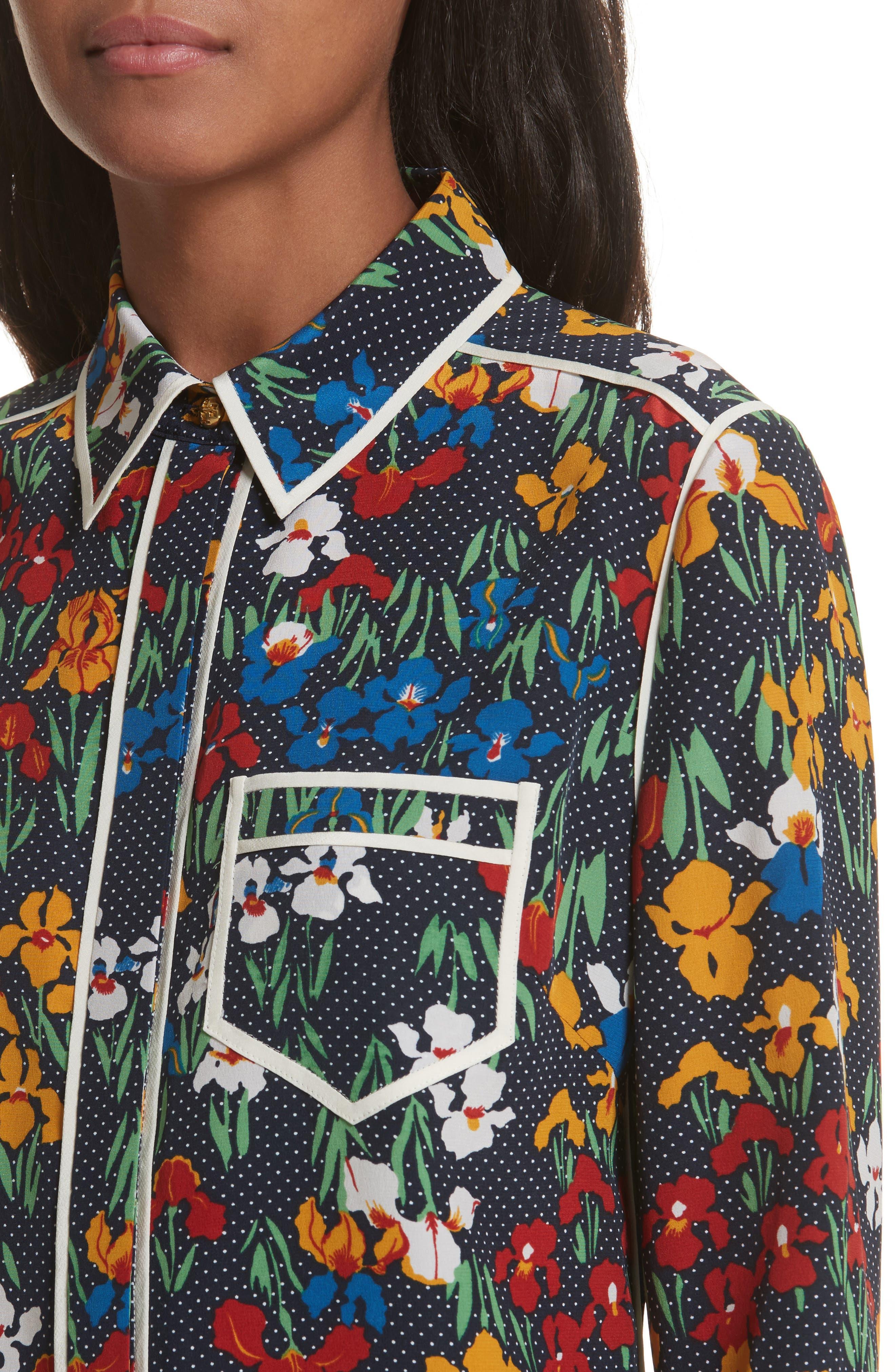 Jackie Silk Shirt,                             Alternate thumbnail 8, color,