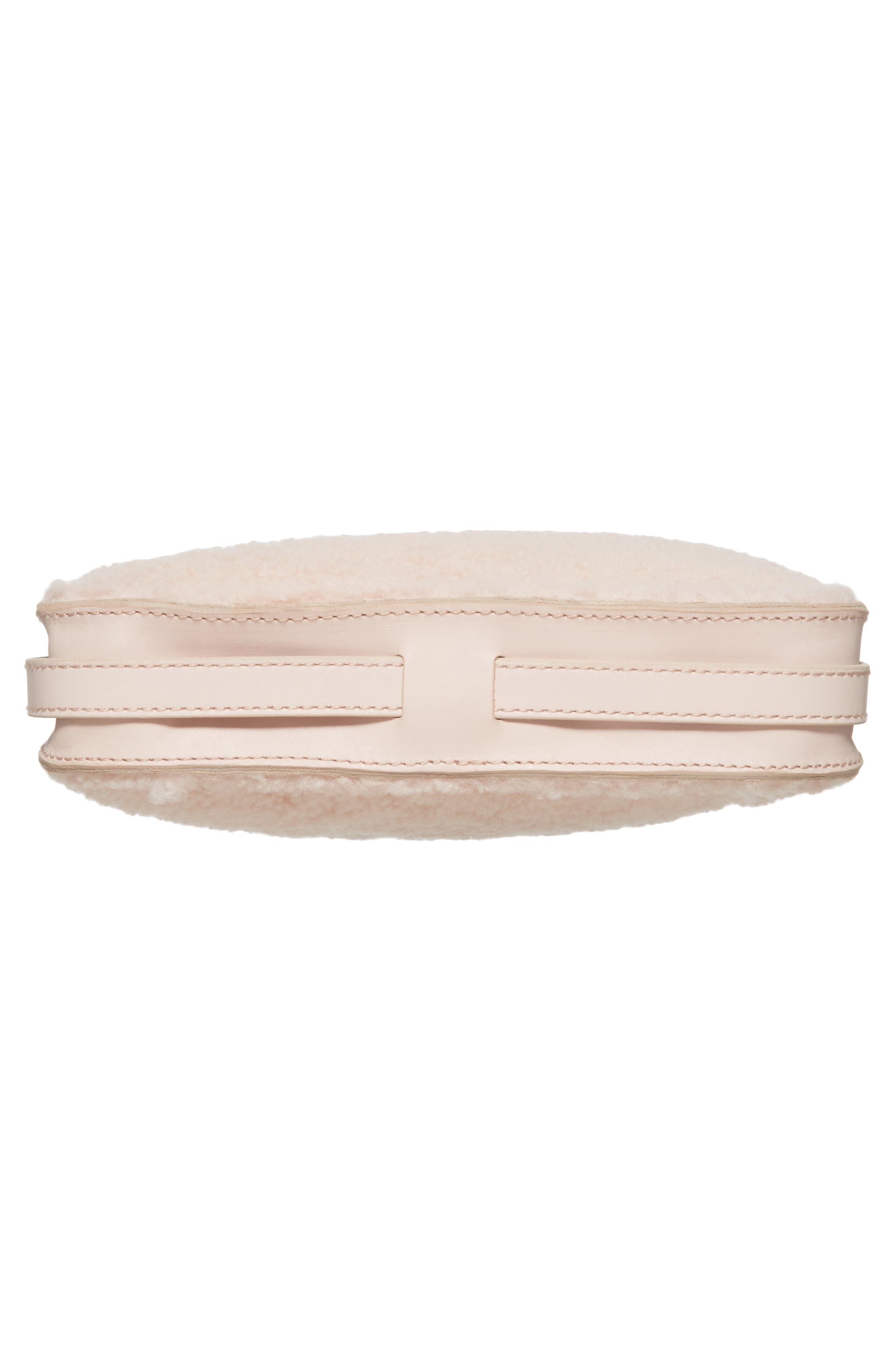 Simple Genuine Shearling Crossbody Bag,                             Alternate thumbnail 6, color,                             655